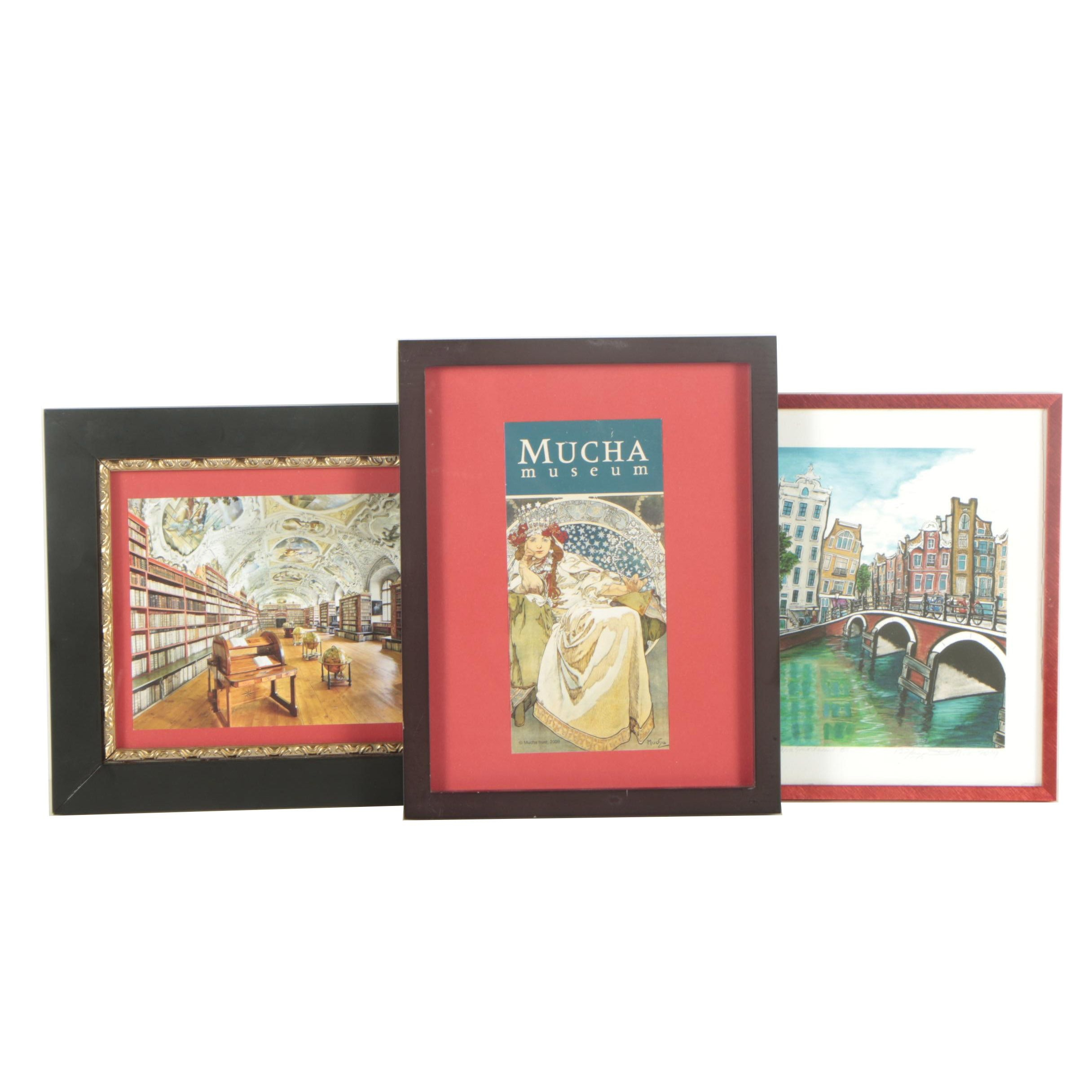 "Assortment of Lithographs including ""Amsterdam"""