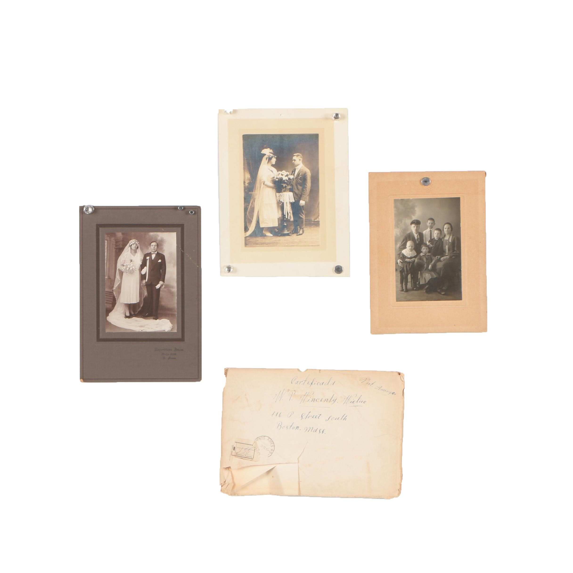 Early 20th Century Gelatin-Silver Photographs and Envelope