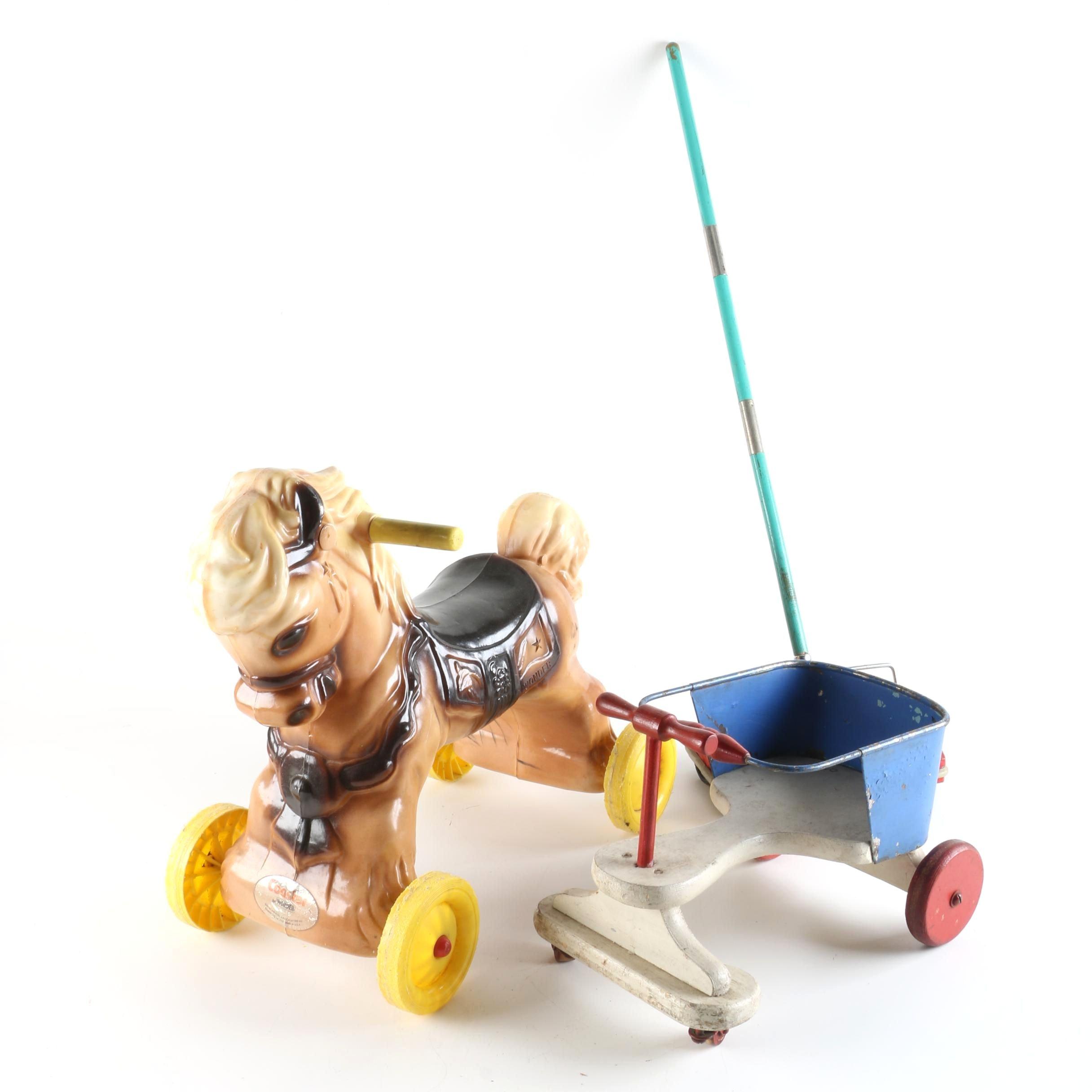 Vintage Children's Toys Including Wonder Ride-On Toy Horse