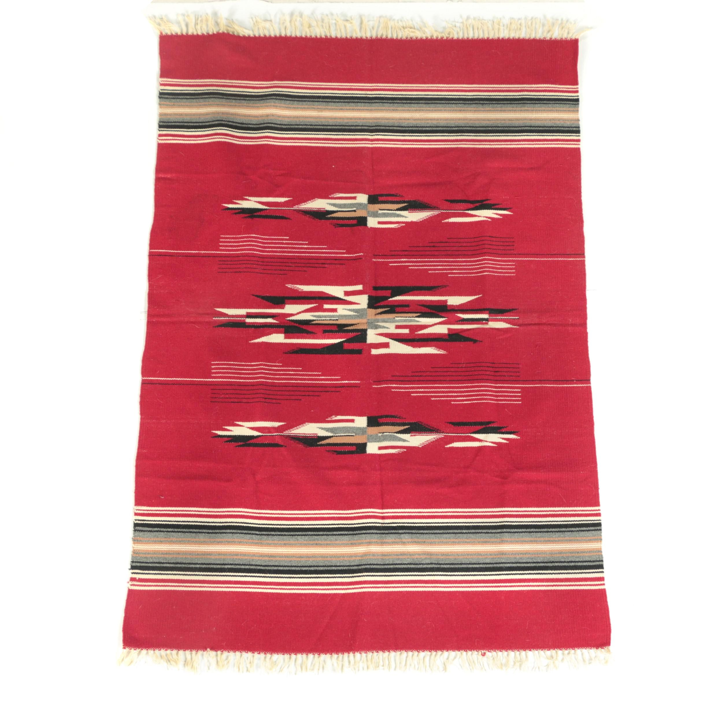 Handwoven Mexican Wool Area Rug