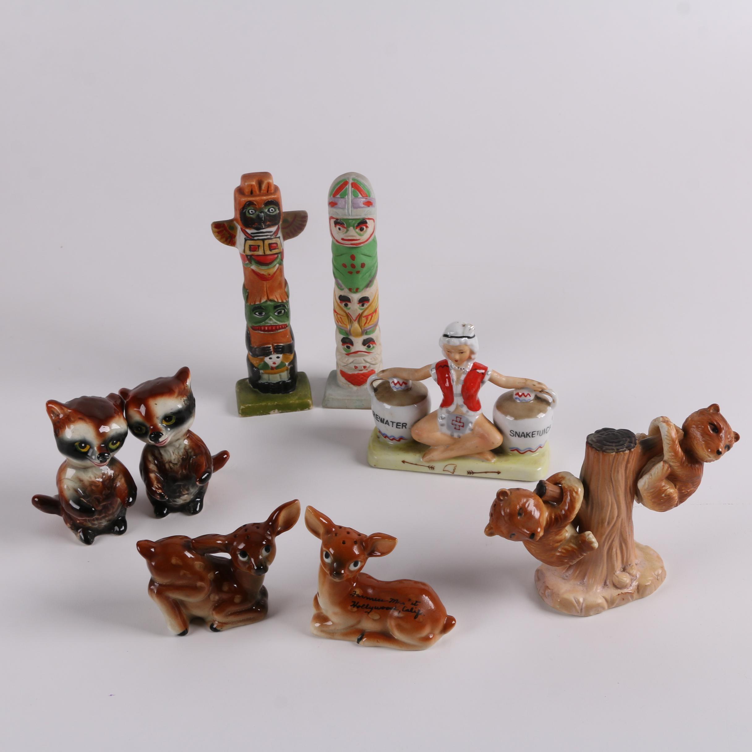 Mid-Century Japanese Export Ceramic Salt and Pepper Shakers