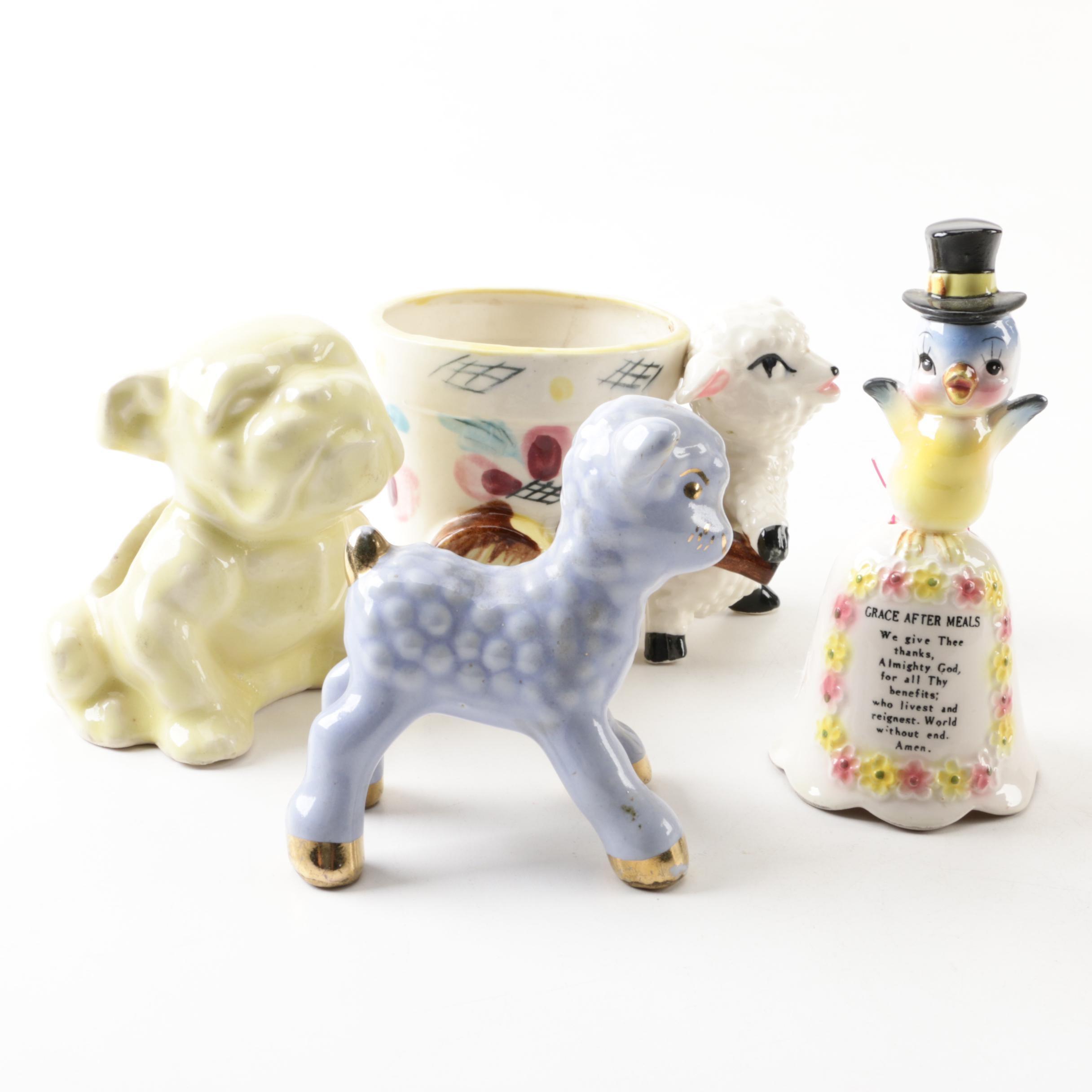 Vintage Ceramic and Bone China Décor Including Grantcrest