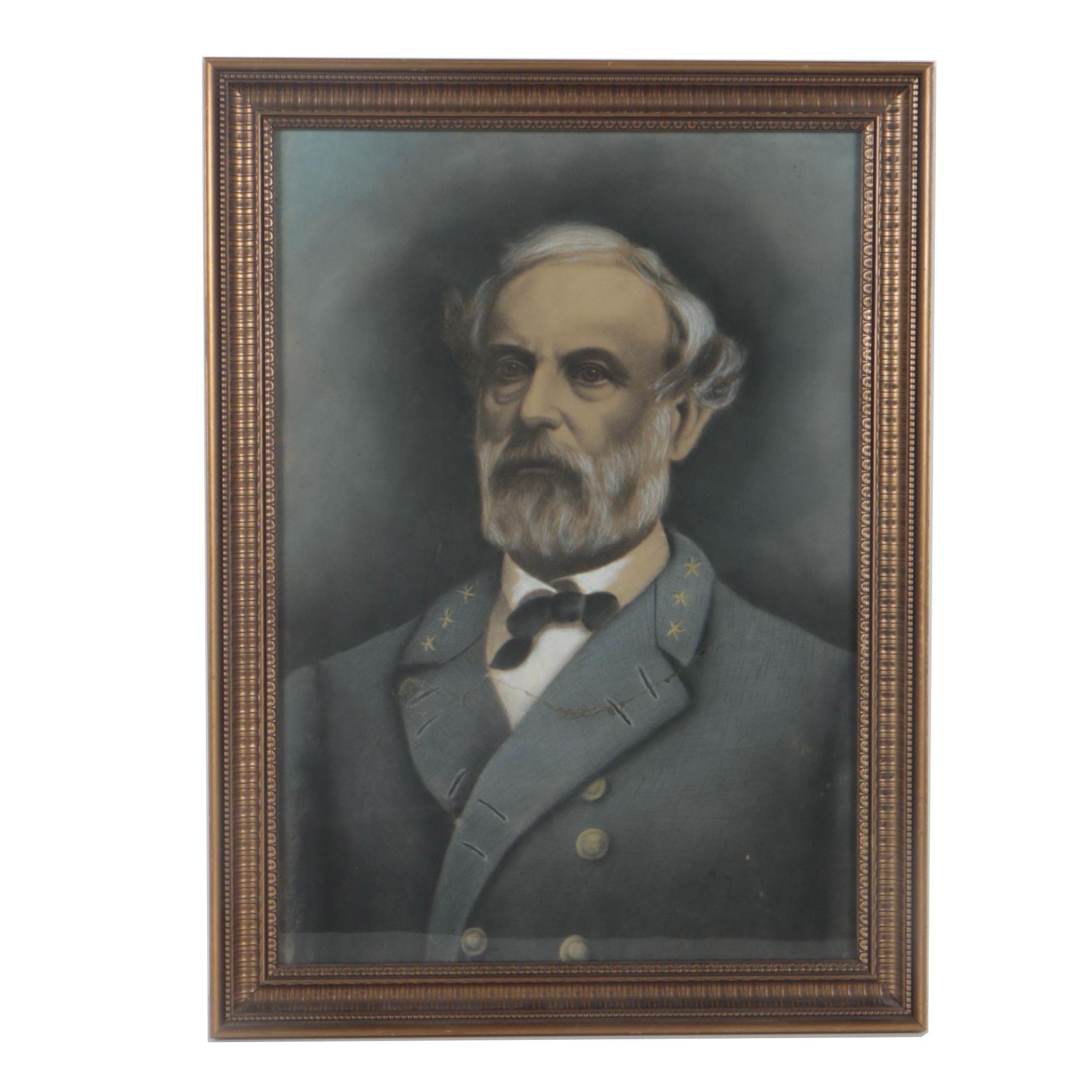 Crayon Portrait of Robert E. Lee