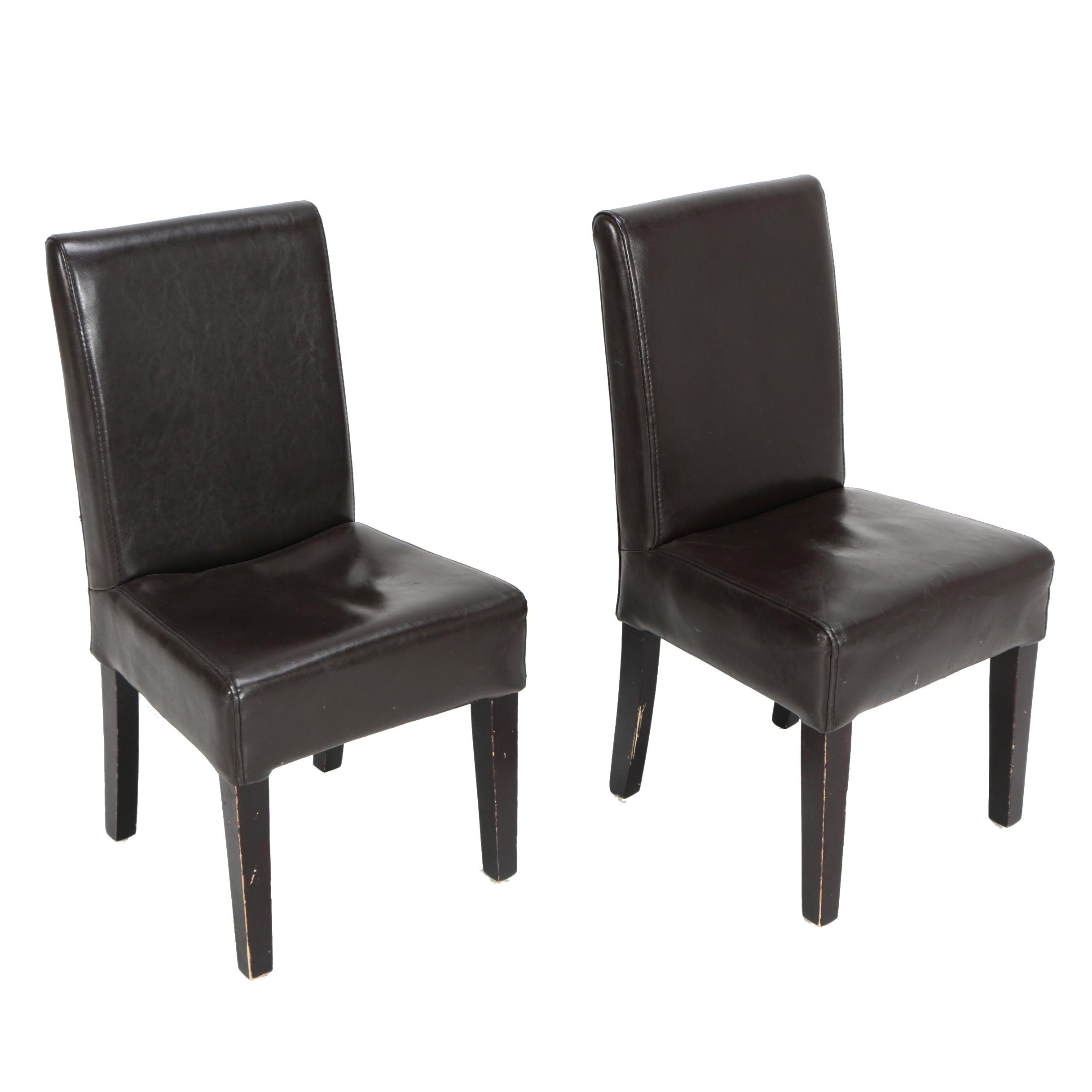 Contemporary Children's Faux Leather Upholstered Side Chairs