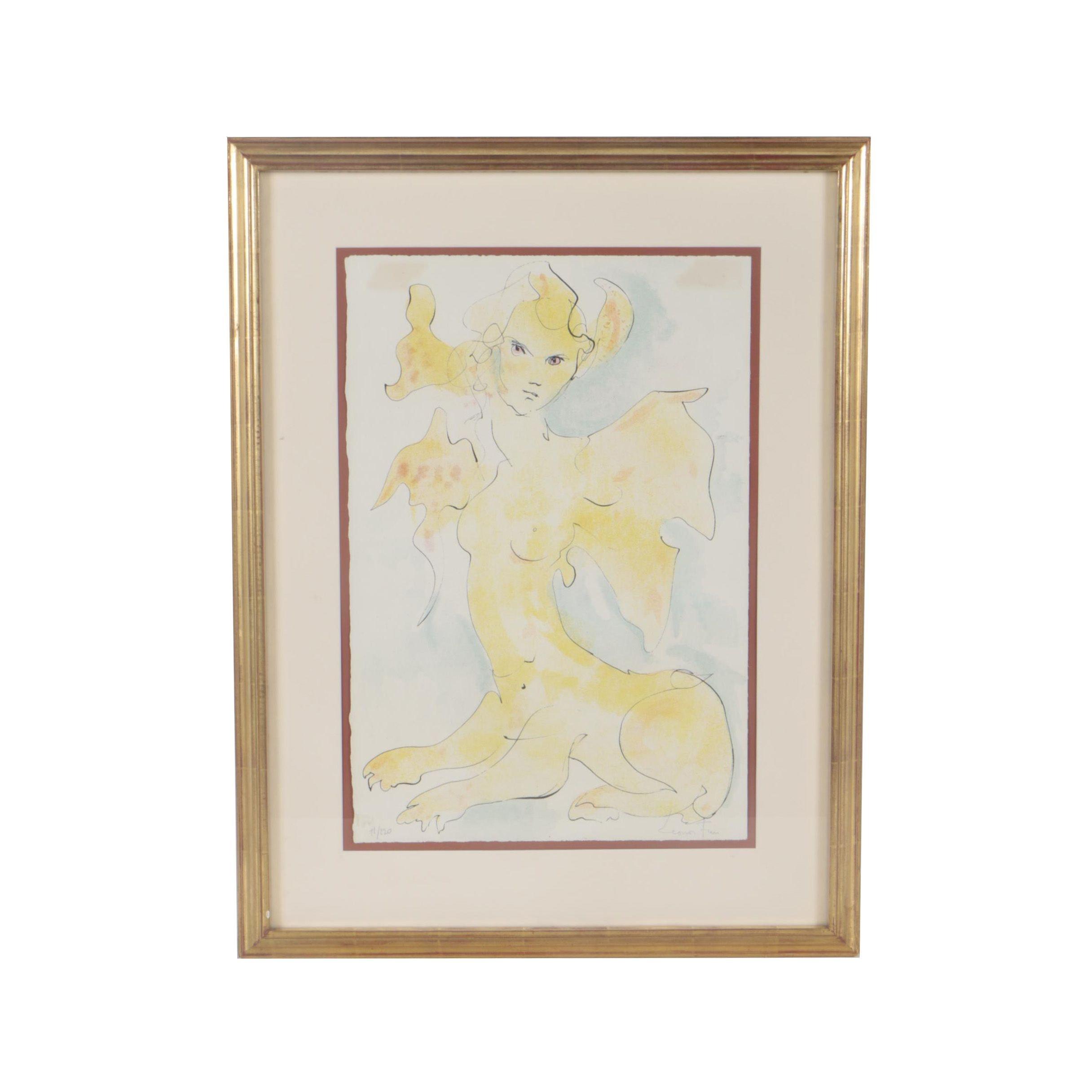 """Leonor Fini Color Lithograph """"Sphinx 12"""""""