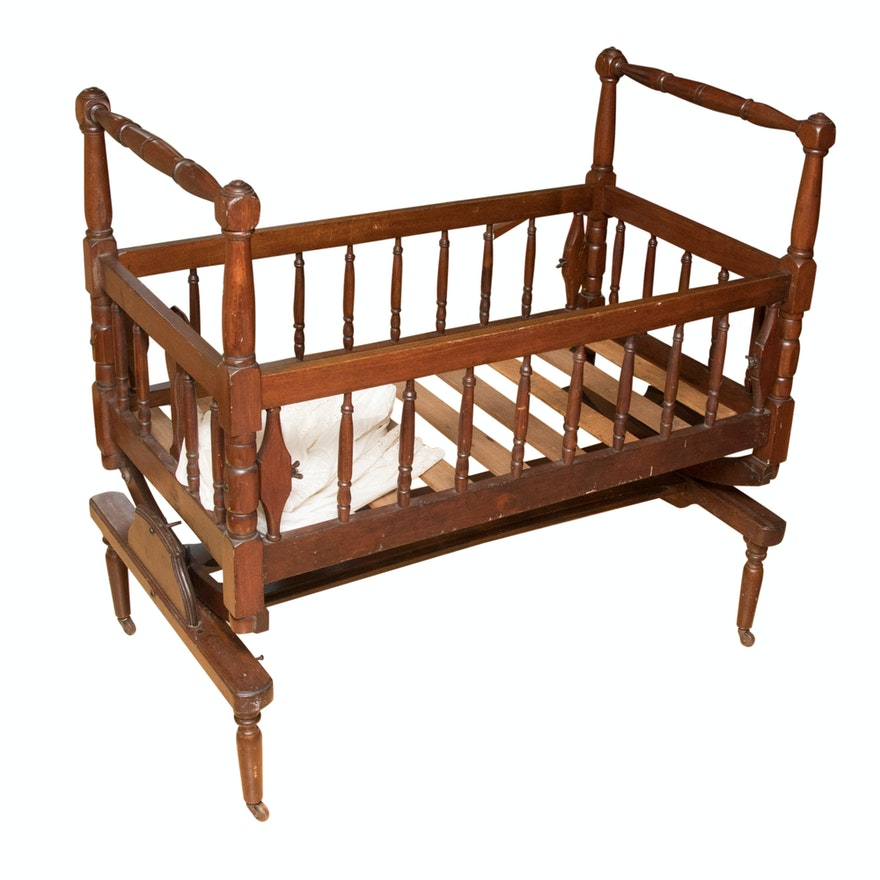 Antique Victorian Betts Street Furniture Co. Baby Platform Crib ... - Antique Victorian Betts Street Furniture Co. Baby Platform Crib : EBTH