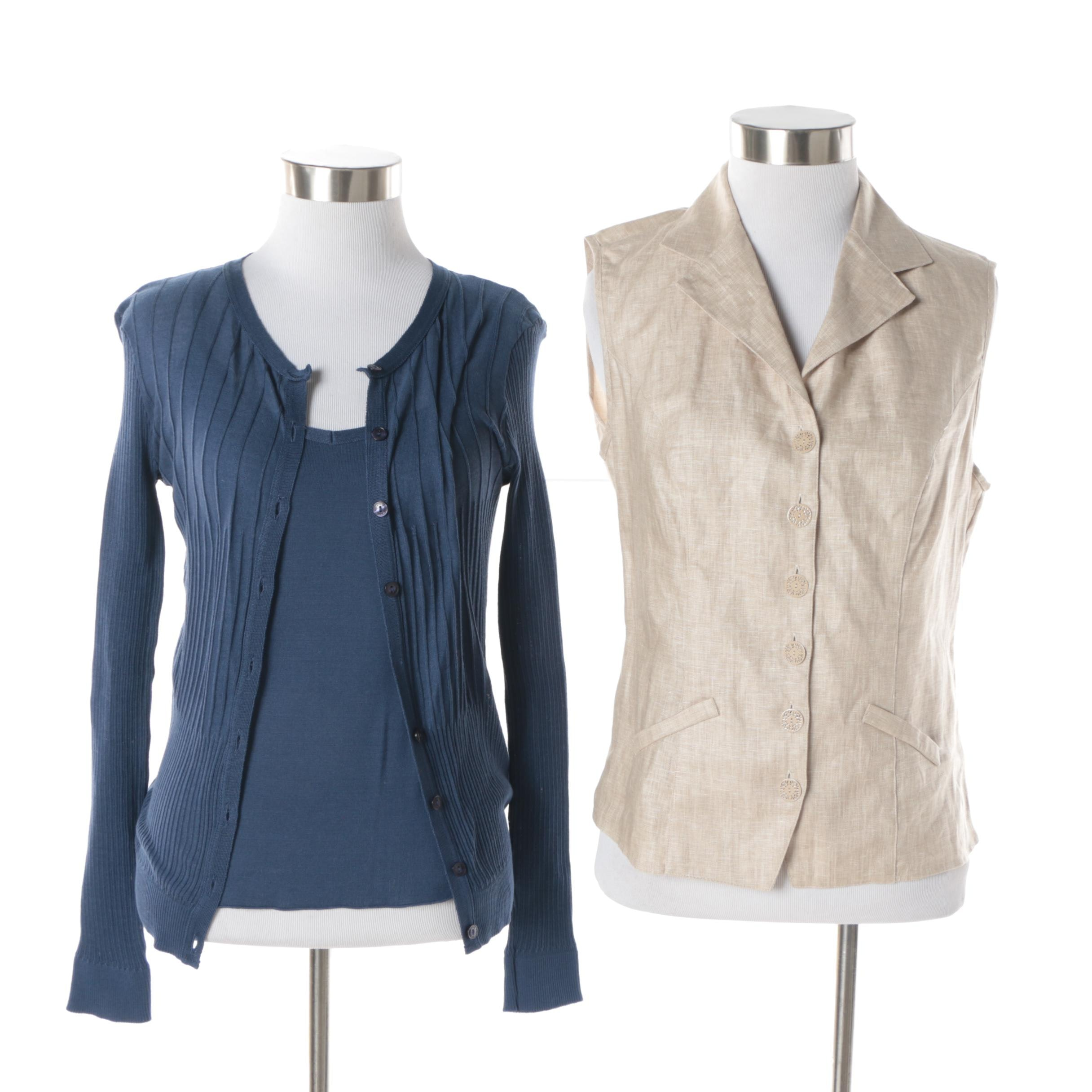 Women's Anne Fontaine Cardigan, Tank Top and Vest