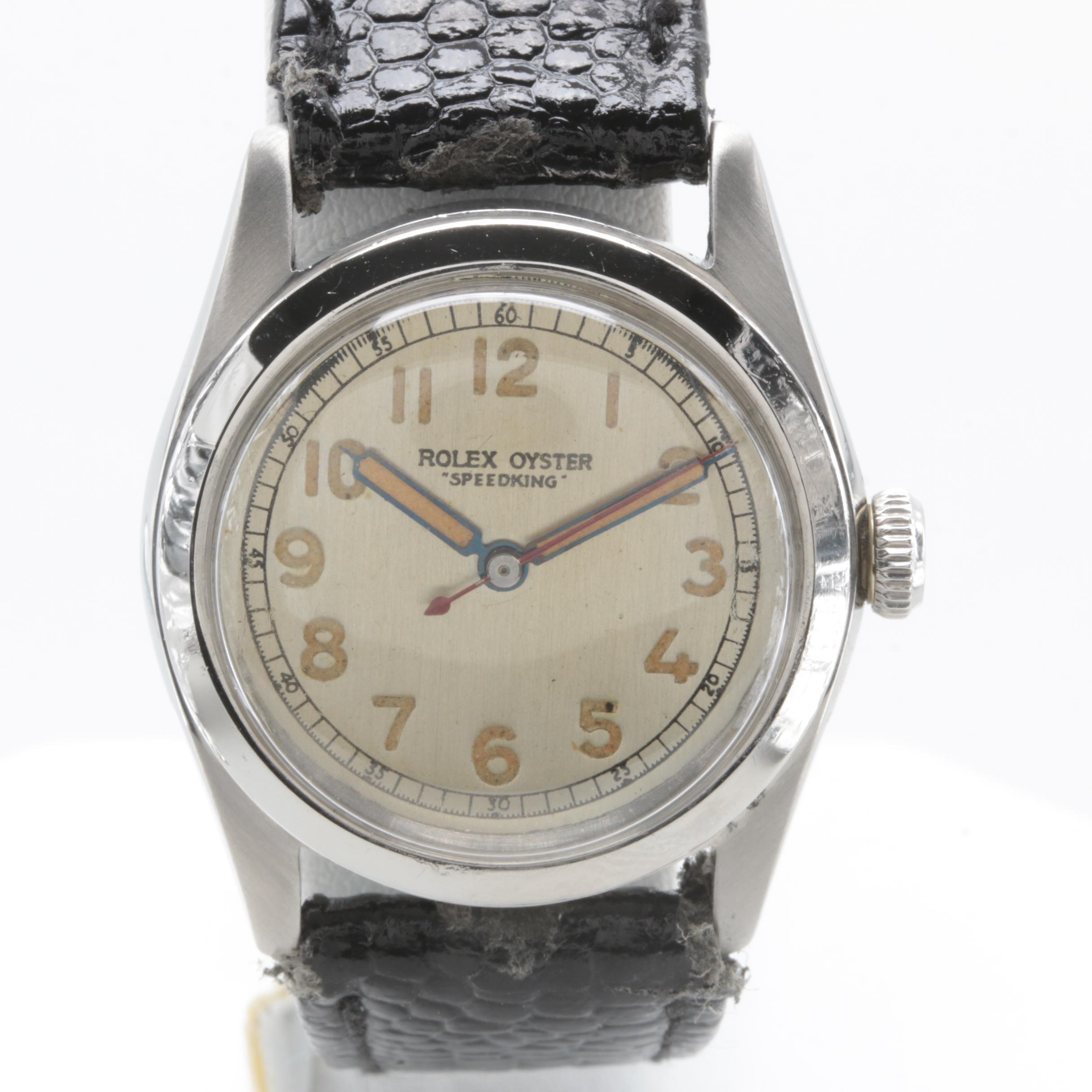 """1945 Rolex Oyster """"Speedking"""" Stainless Steel Wristwatch"""