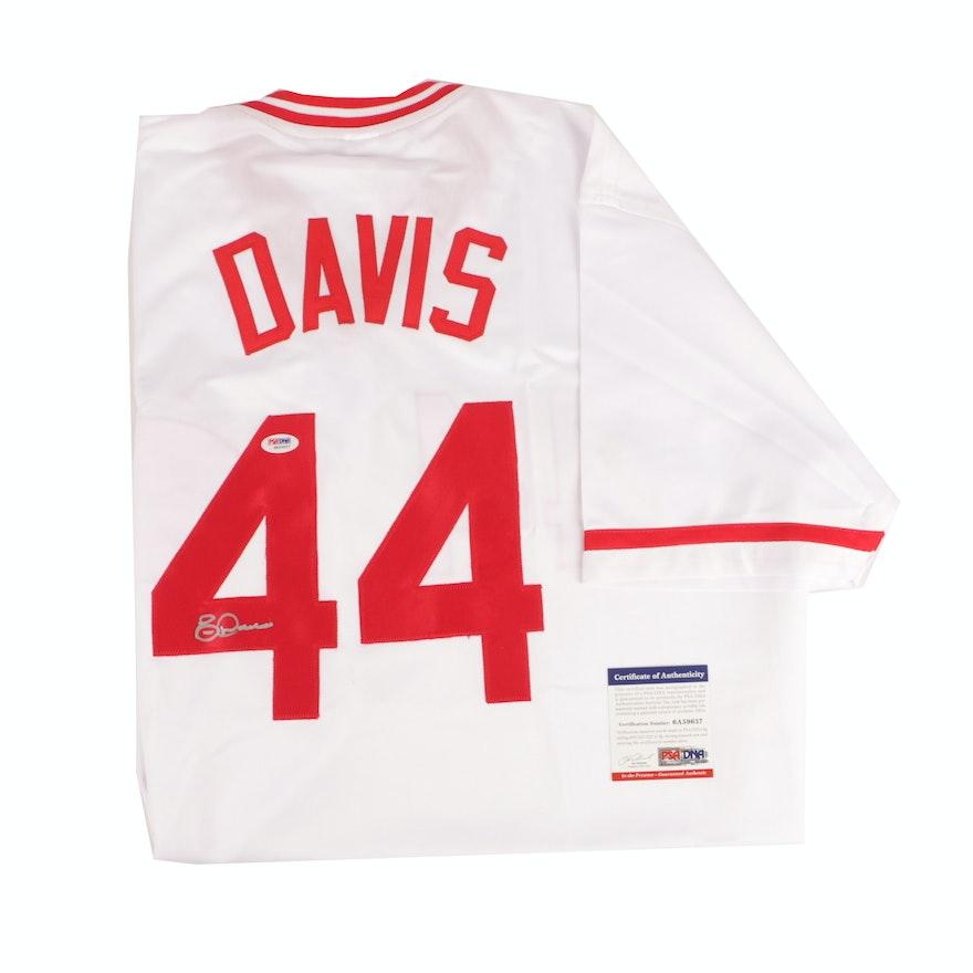 best cheap 8a69e 7627a Eric Davis Autographed Cincinnati Reds Baseball Jersey - PSA/DNA COA