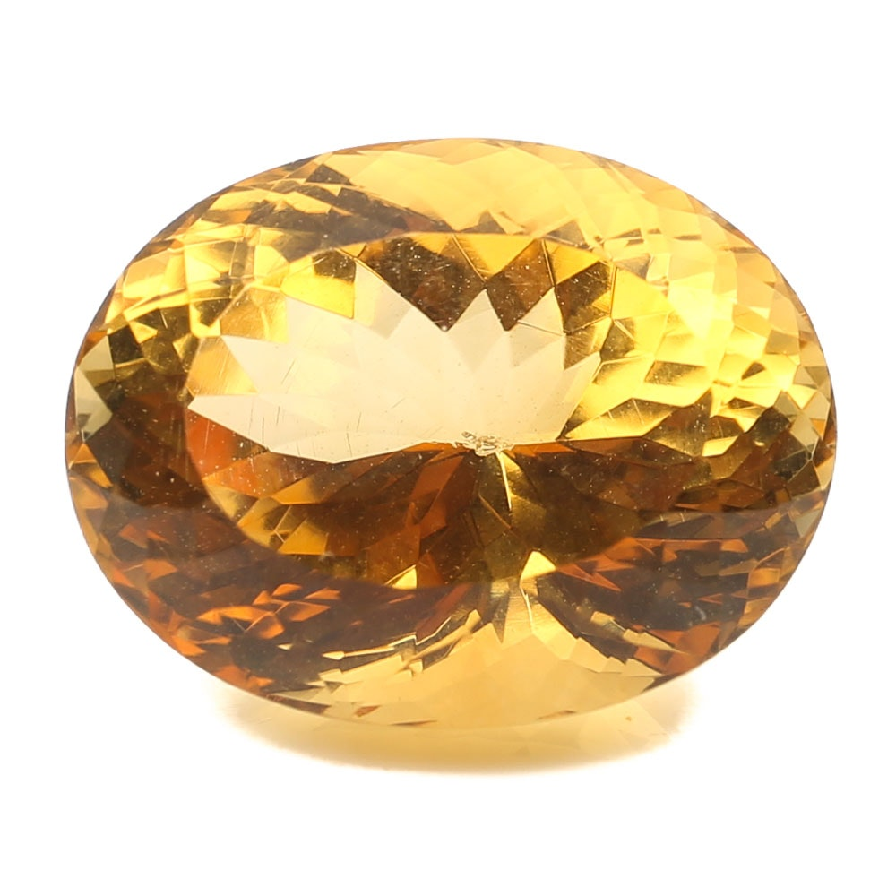 Loose 15.30 CT Citrine Gemstone