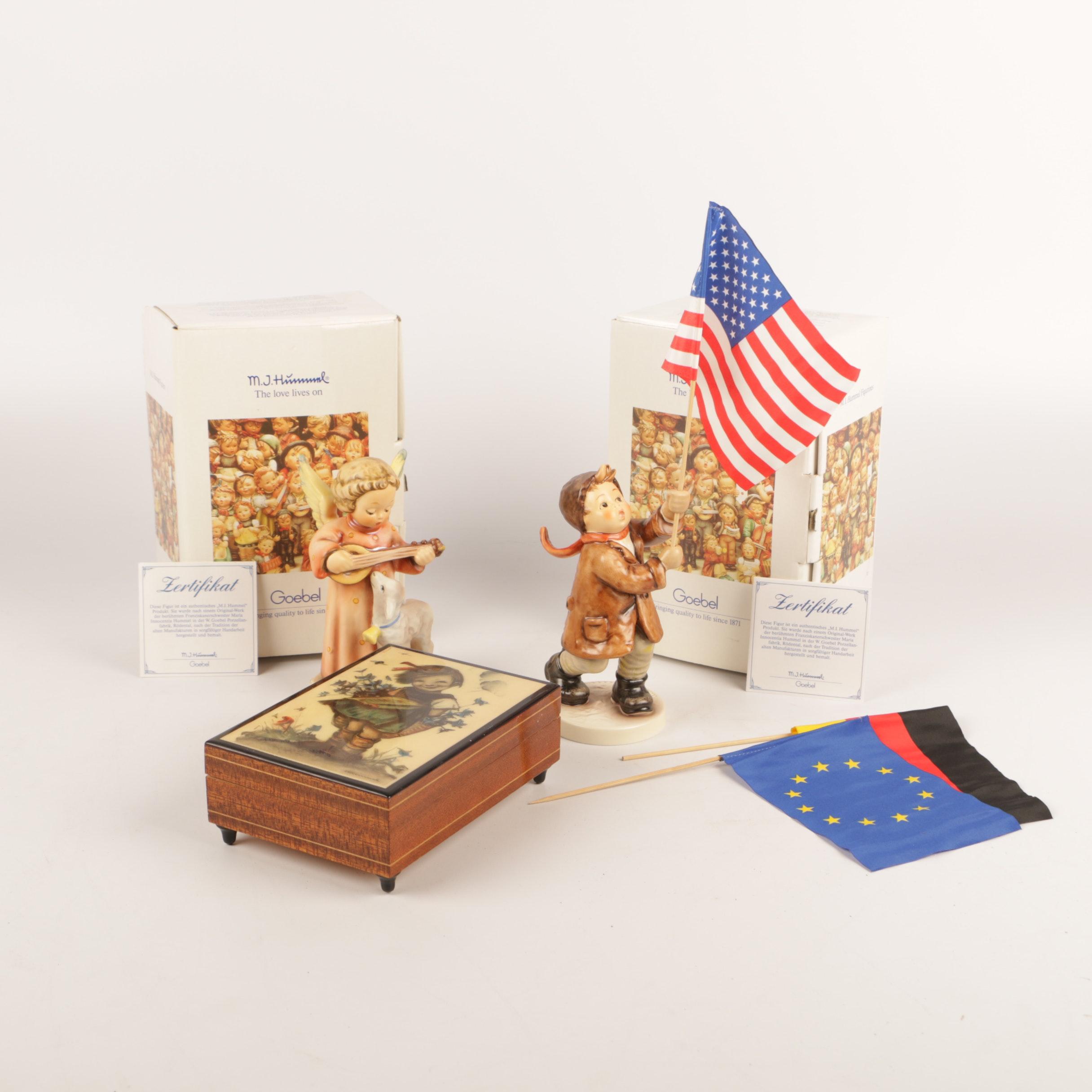 Goebel M.I.Hummel Porcelain Figurines and Reuge Music Box