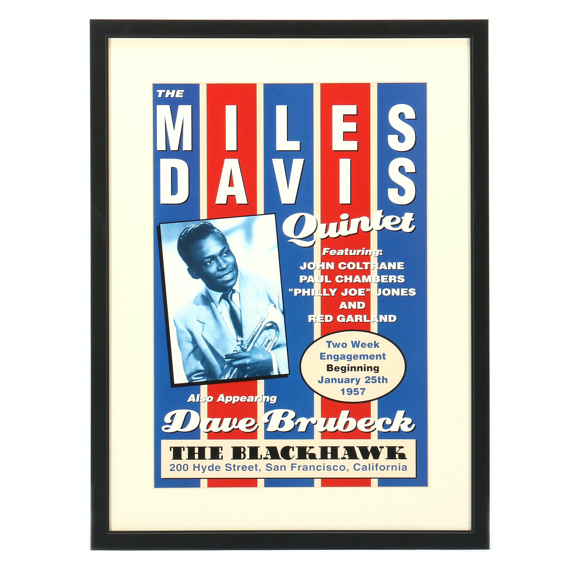"Contemporary Reproduction after 1957 Poster ""The Miles Davis Quintet"""