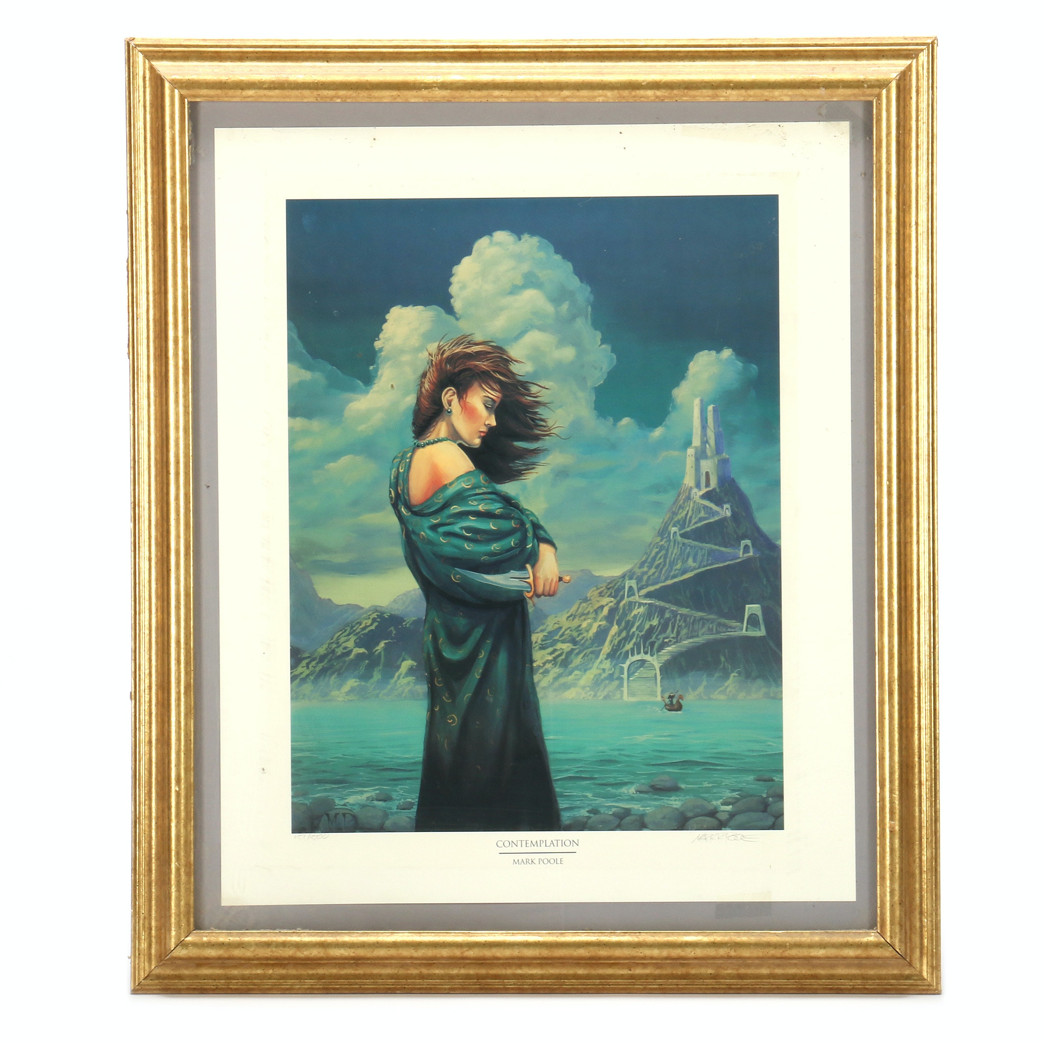 """Mark Poole Limited Edition Offset Lithograph """"Contemplation"""""""