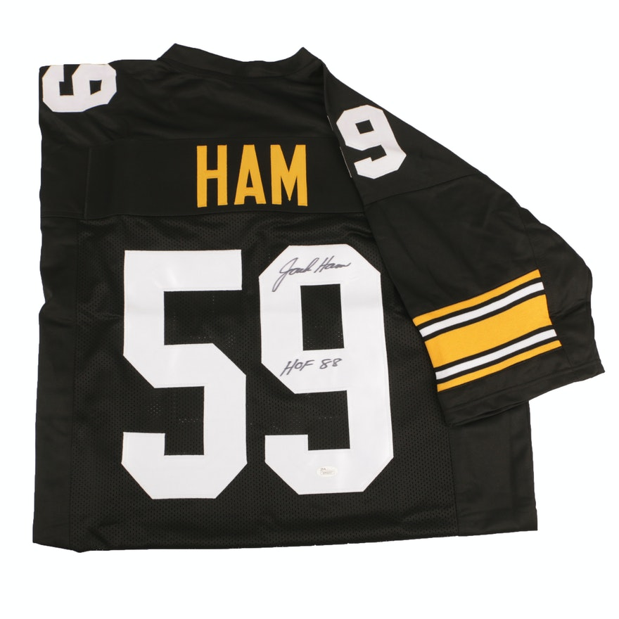 054beaeee4a Jack Ham Autographed Pittsburgh Steelers Jersey - JSA COA   EBTH