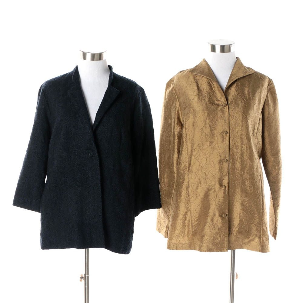 Women's Eileen Fisher Silk and Wool Jackets
