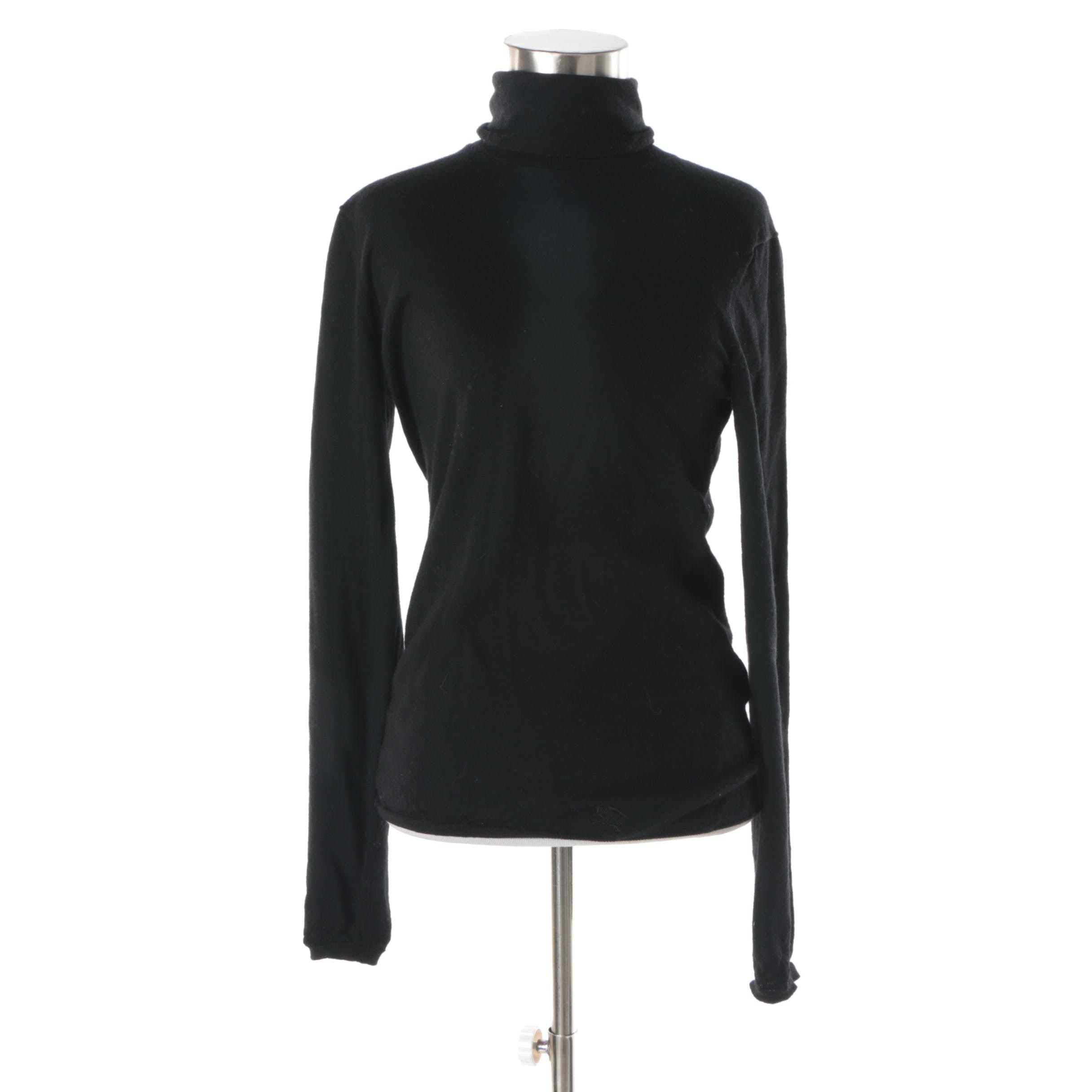 Women's Burberry Brit Black Wool Turtleneck