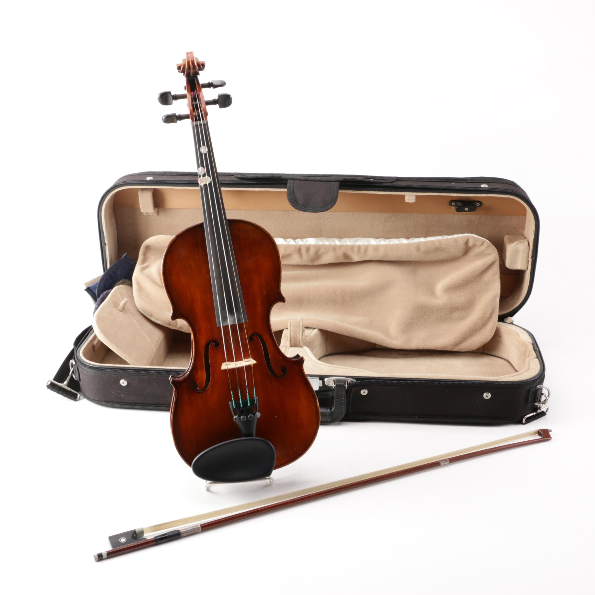 Rudoulf Doetsch 3/4 Stradivarius Copy Violin with Jean-Joseph Martin Bow