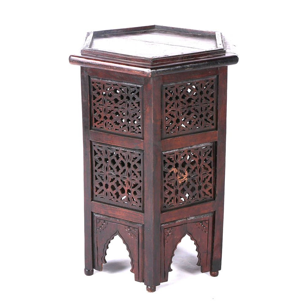 Vintage Anglo-Indian Style Accent Table