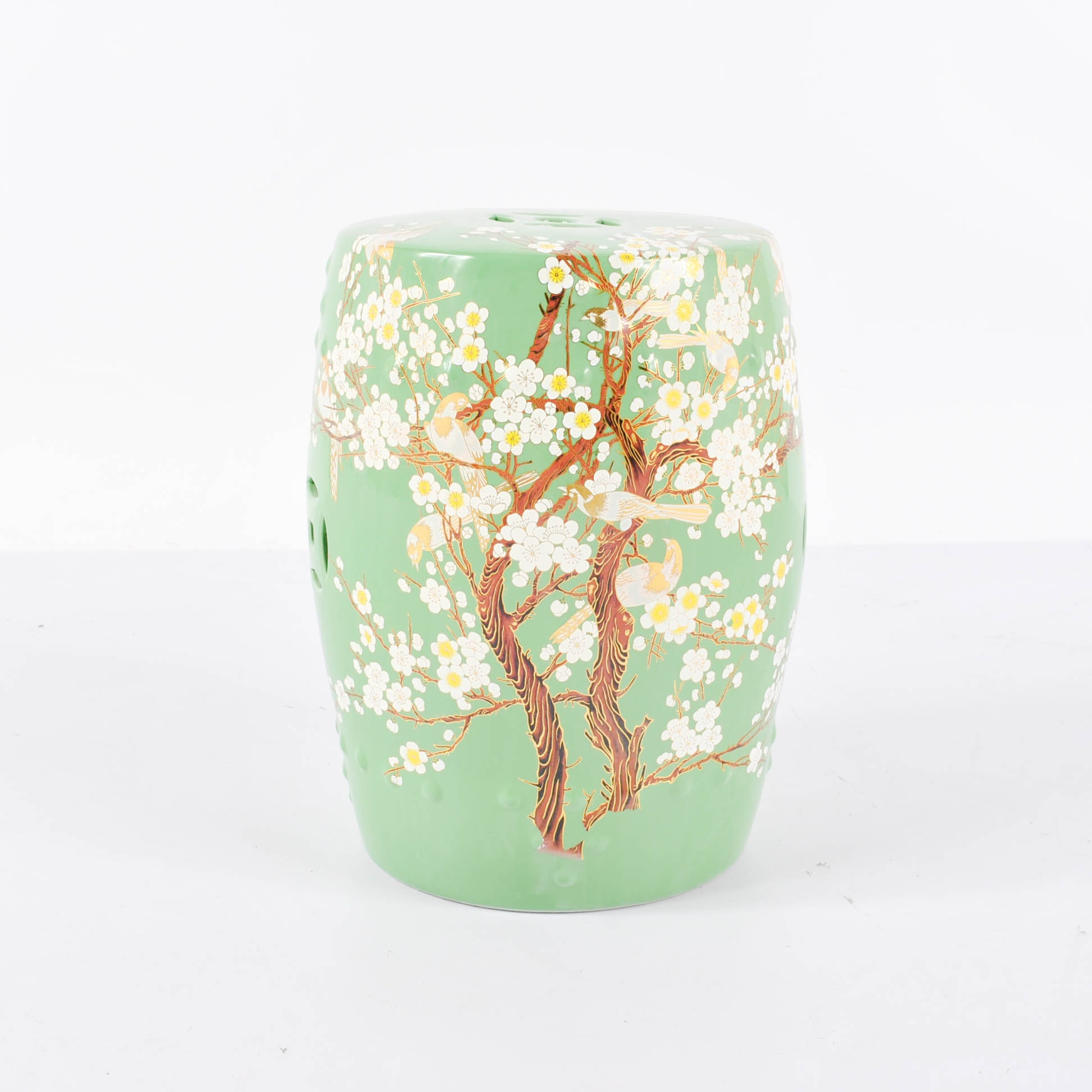 Chinese Plum Blossom Ceramic Garden Stool