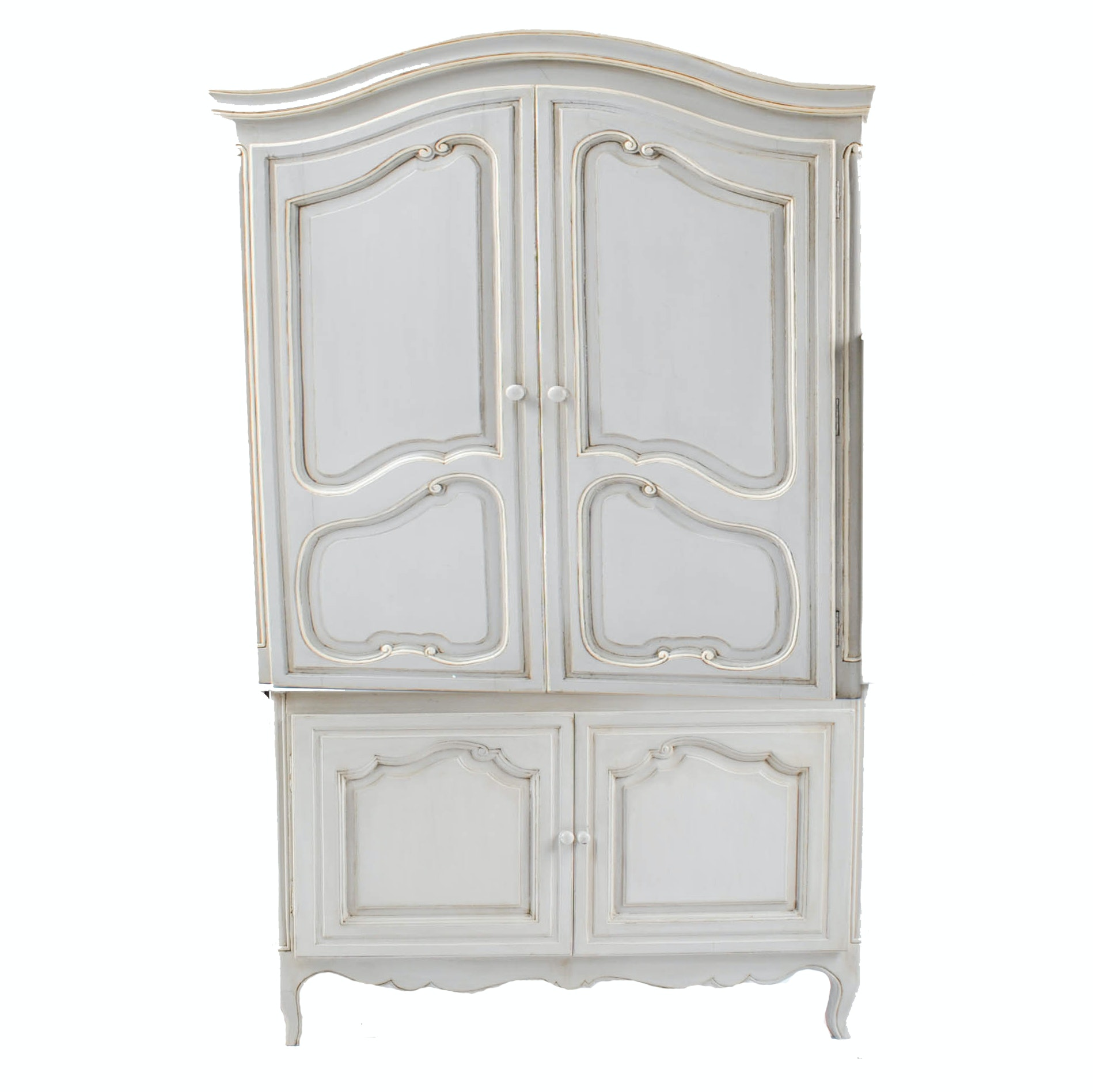 Vintage French Provincial Style Painted Cabinet