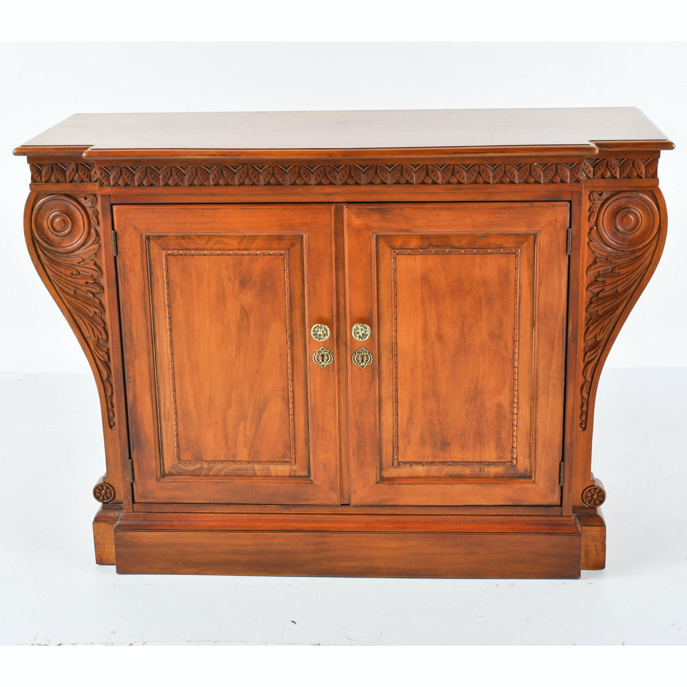 Contemporary Neoclassical Style Breakfront Cabinet