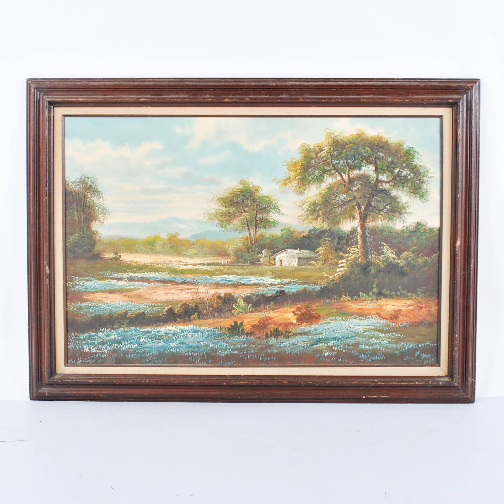 Al Smith Oil Landscape Painting