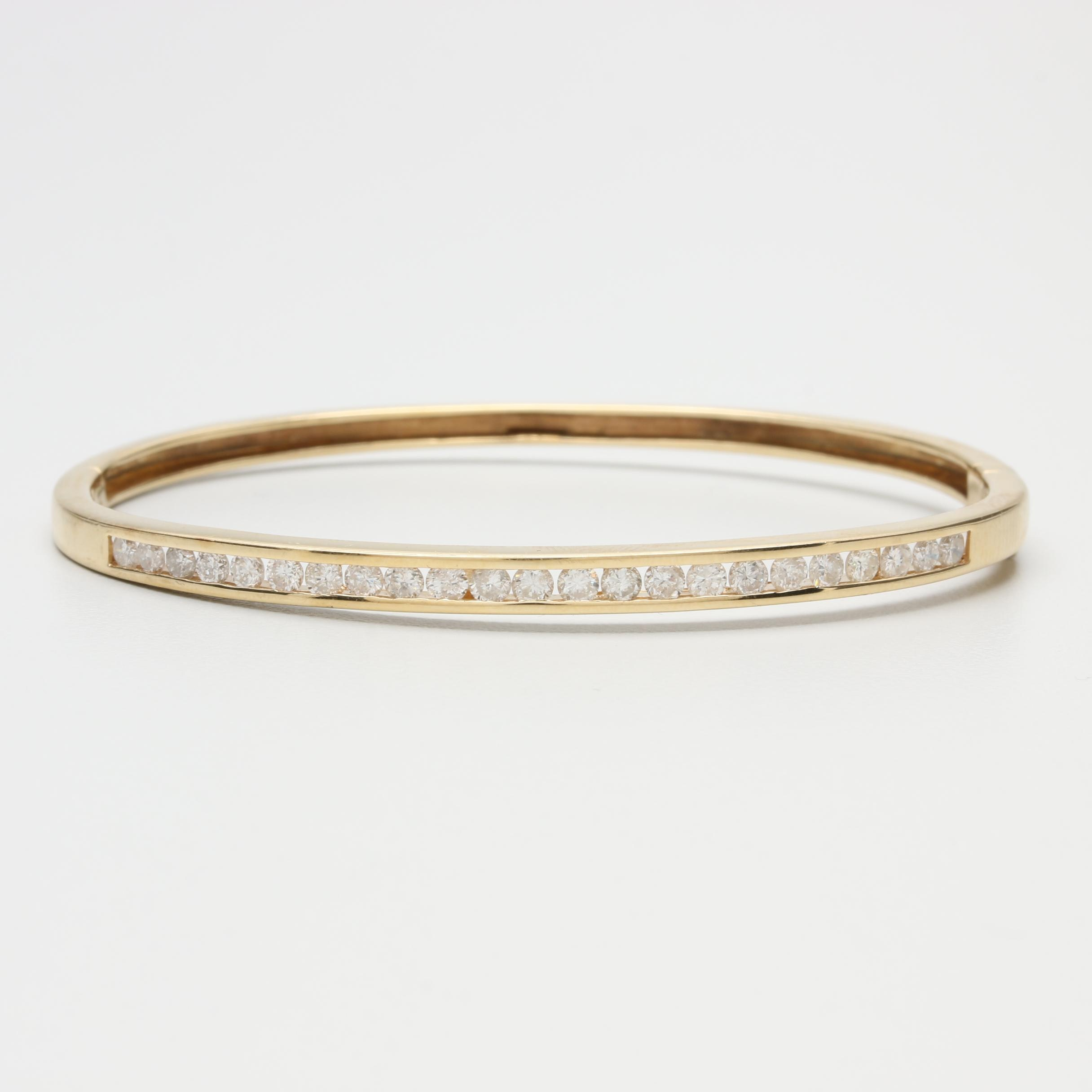 14K Yellow Gold 1.26 CTW Diamond Bracelet