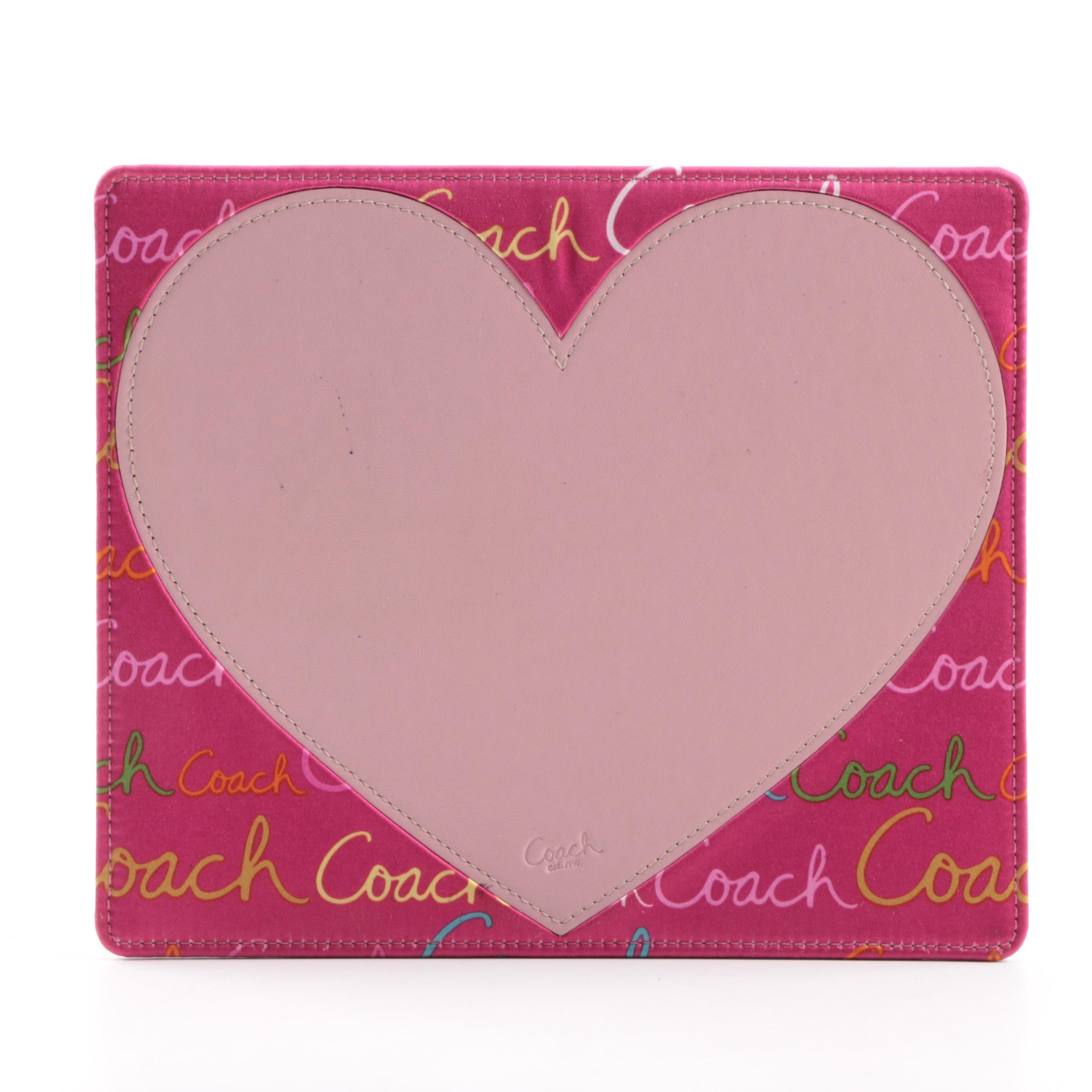 Coach Leather Heart Mouse Pad