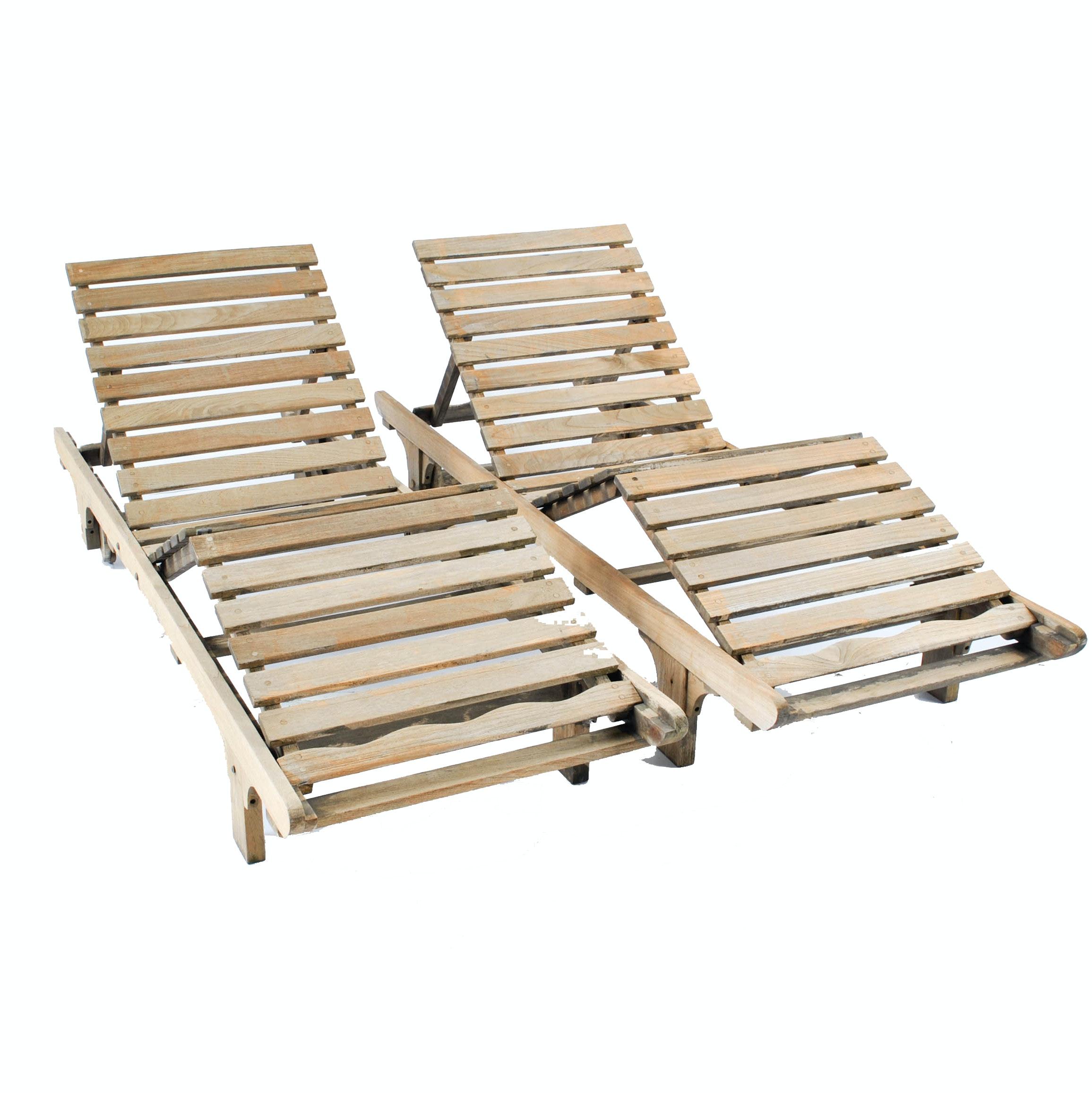 Teak Patio Lounge Chairs