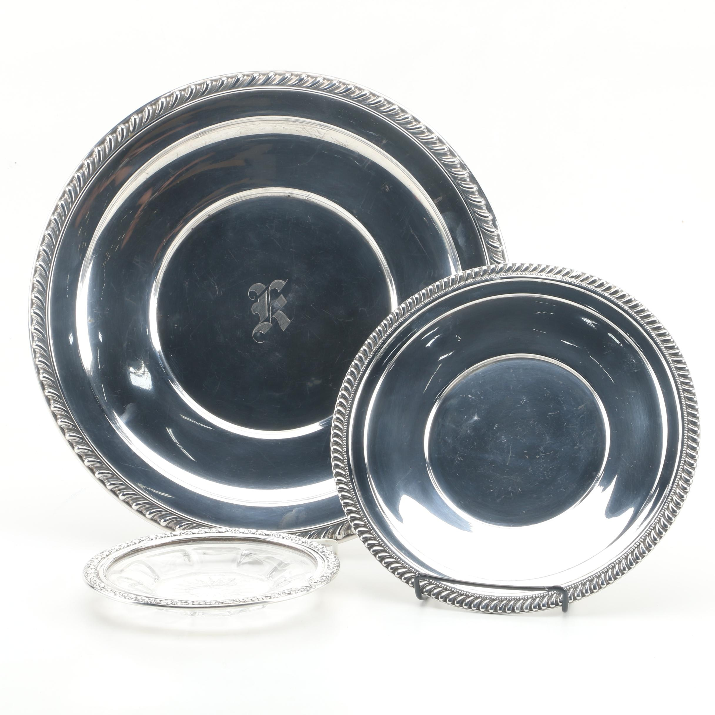 "Wallace ""Halifax"" Sterling Sandwich Plate and Other Sterling Serveware"