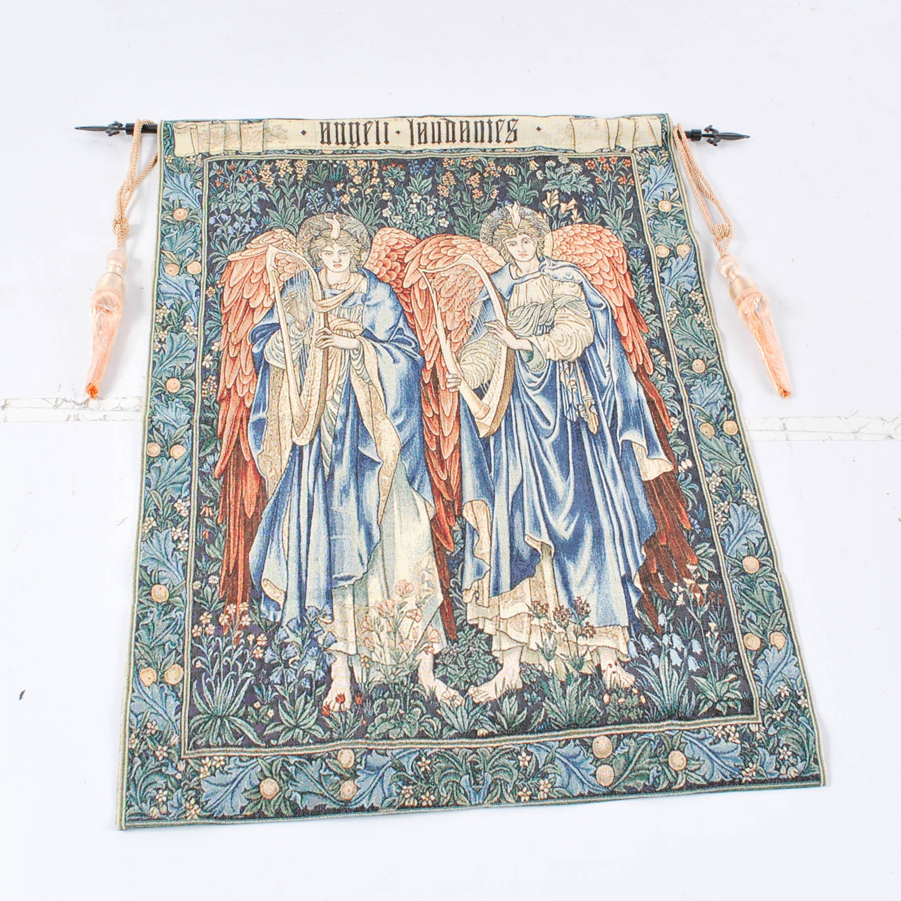 Machine Made Tapestry of Angels