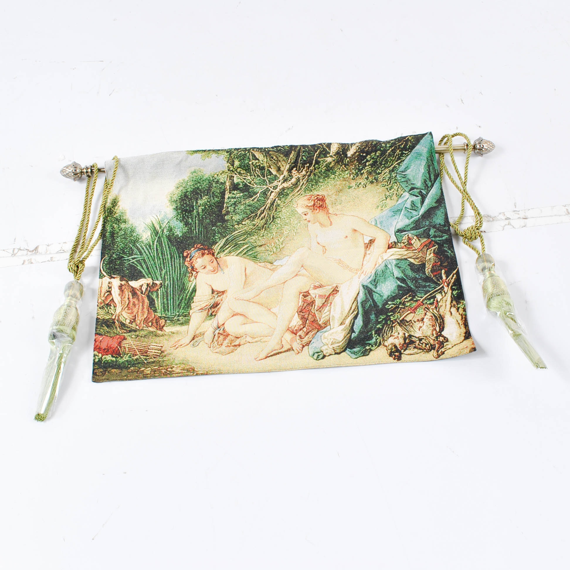 Machine Made Tapestry of Pastoral Scene