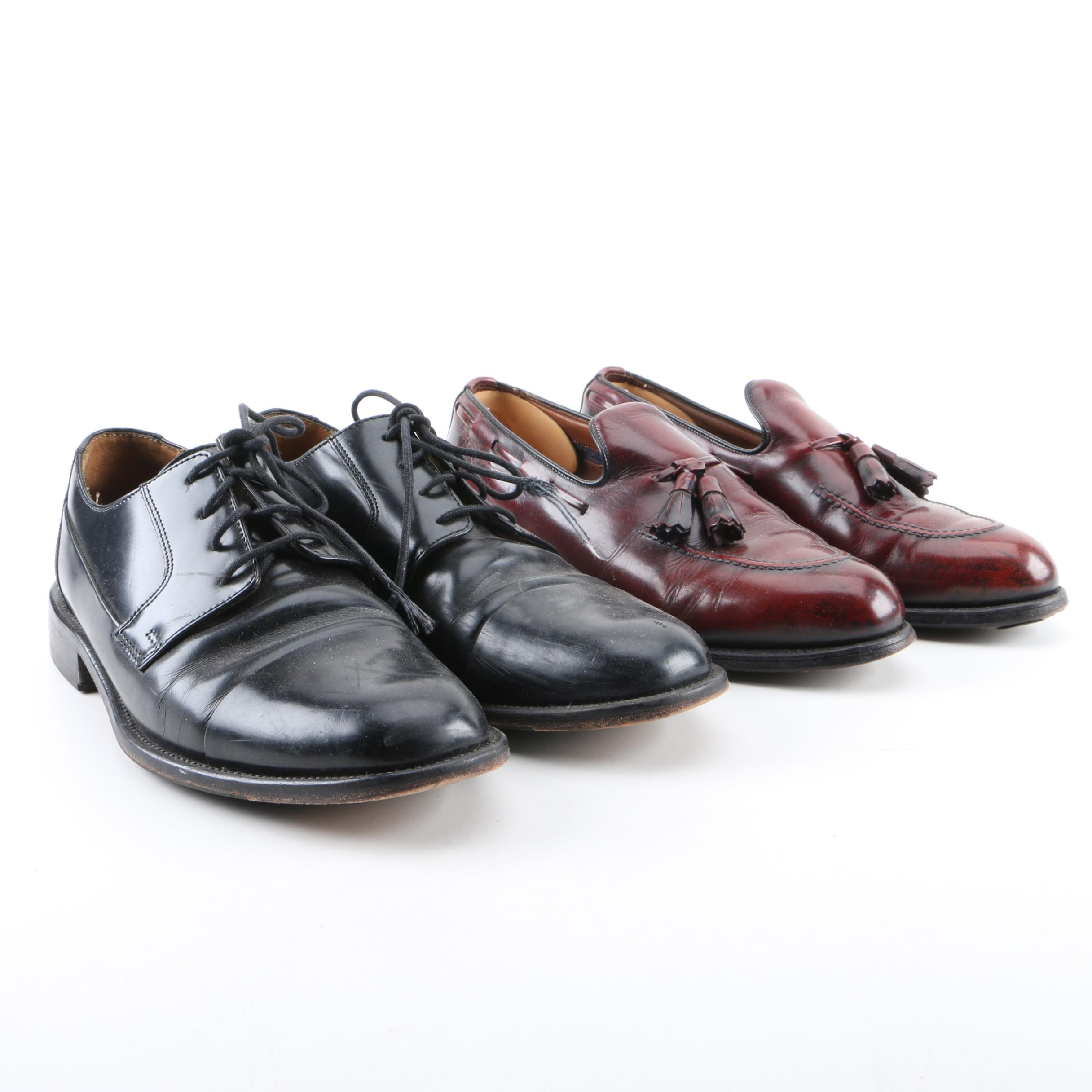 Men's Bostonian Black Leather Oxfords and Allen-Edmonds Brown Leather Loafers
