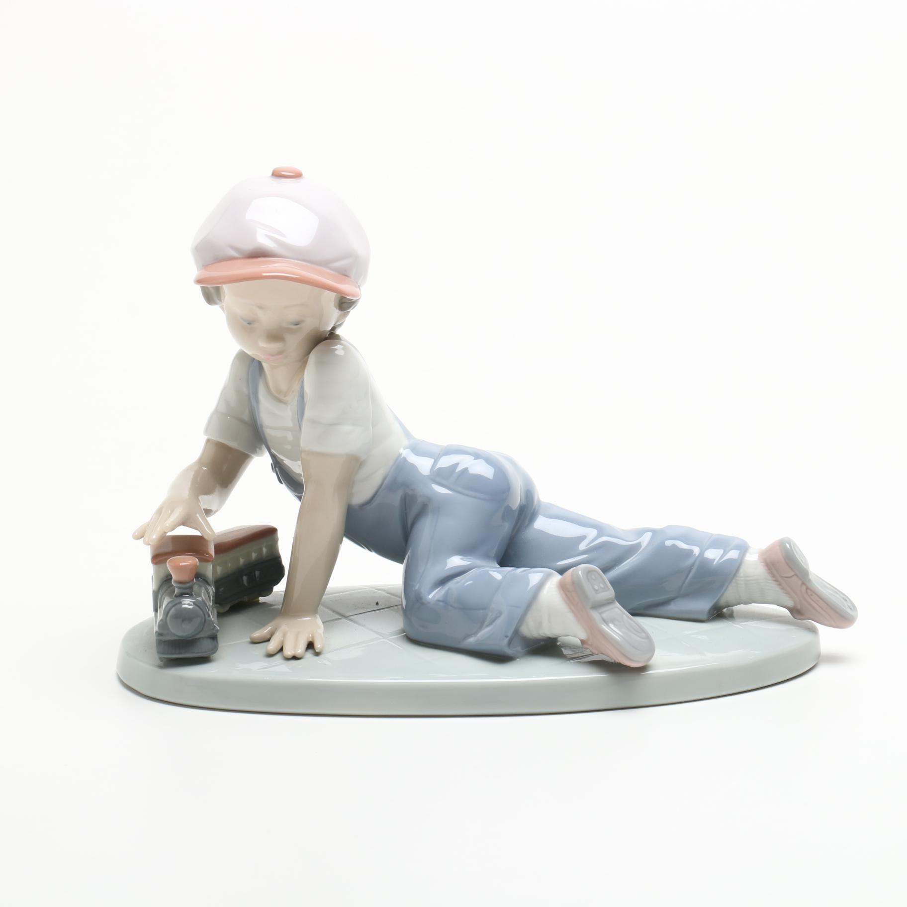 "1992 Lladró Collectors Society ""It Wasn't Me Figurine"" Porcelain Figurine"