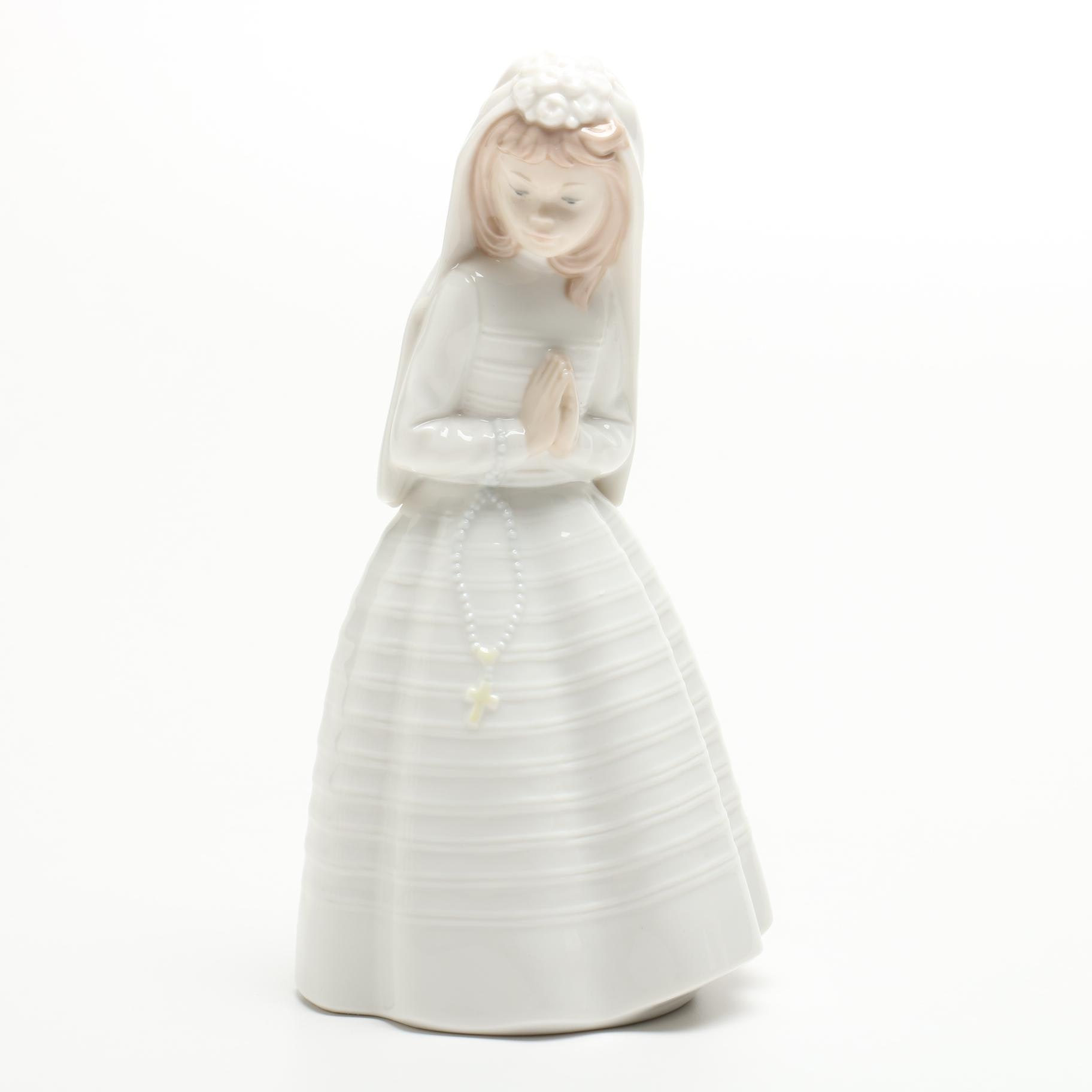 Nao by Lladró First Communion Porcelain Figurine