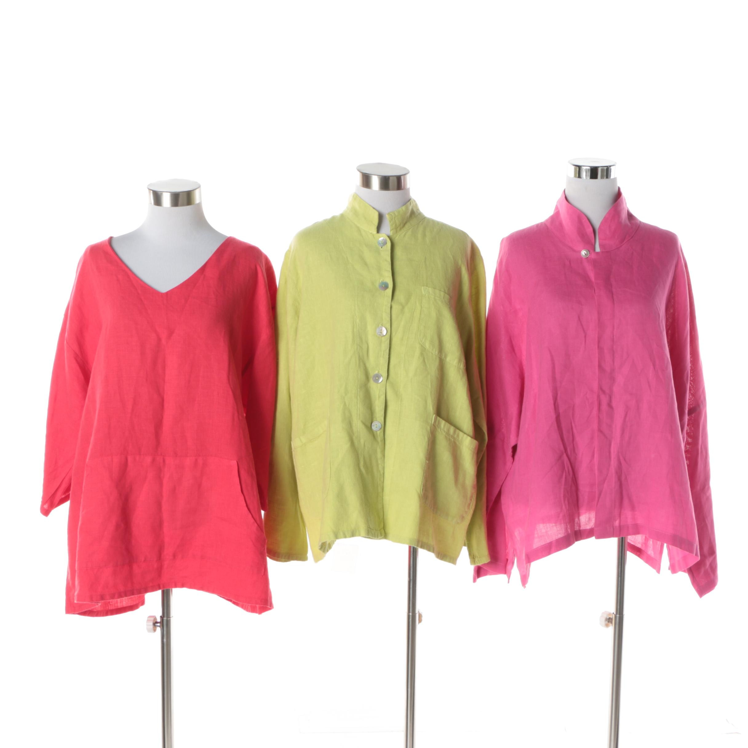 Women's Linen Tops Including Bryn Walker and Match Point