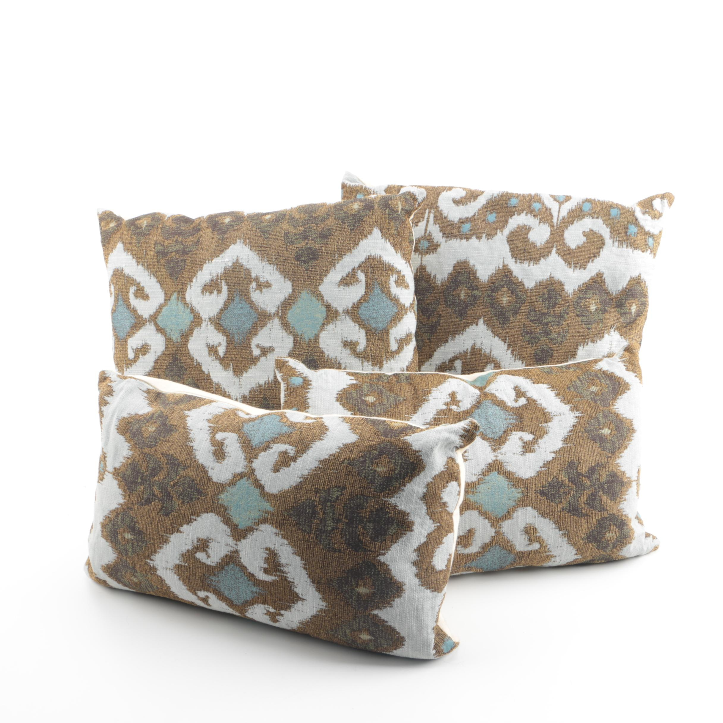 Contemporary Ikat-Style Accent Pillows