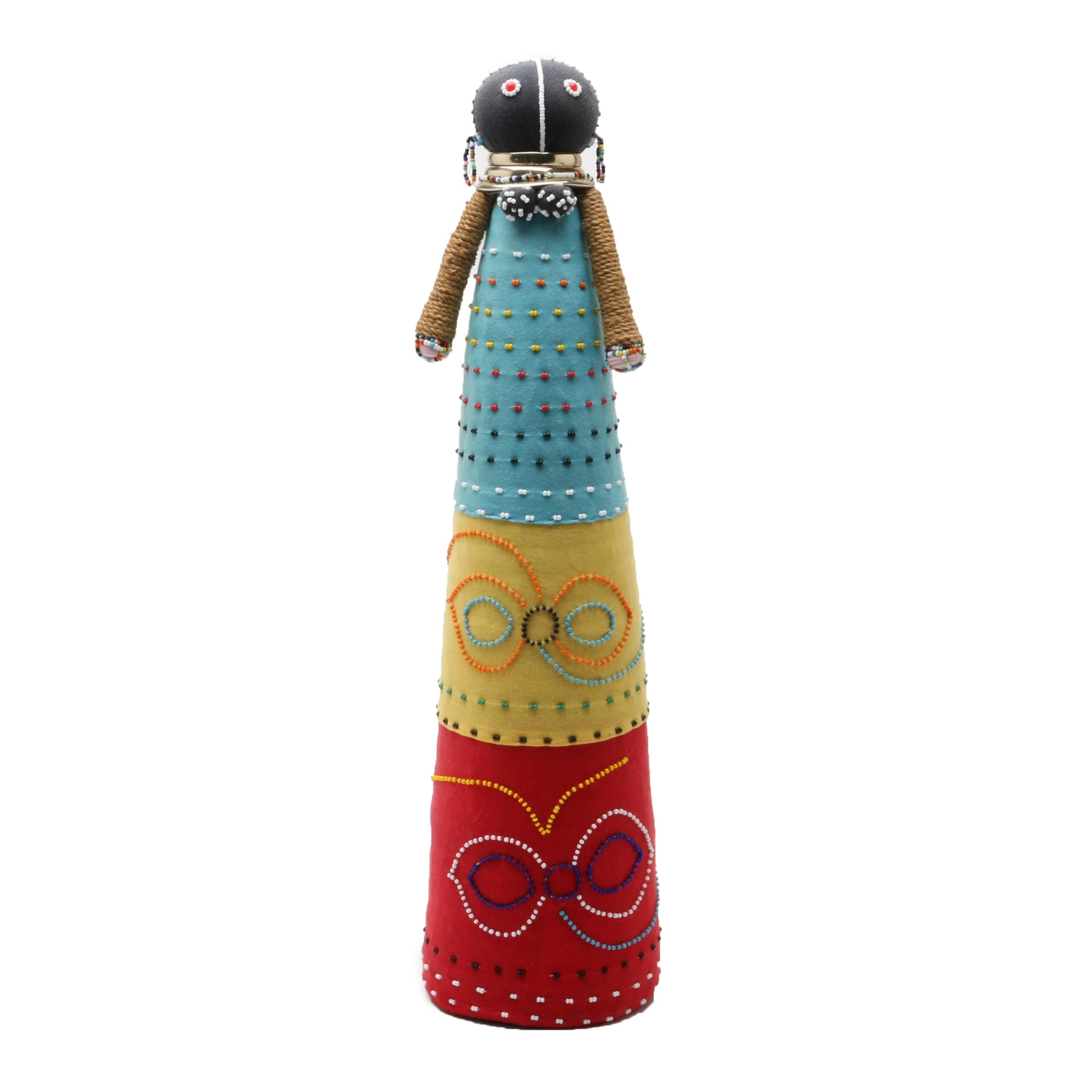 African Art Ndebele Seed Bead Doll