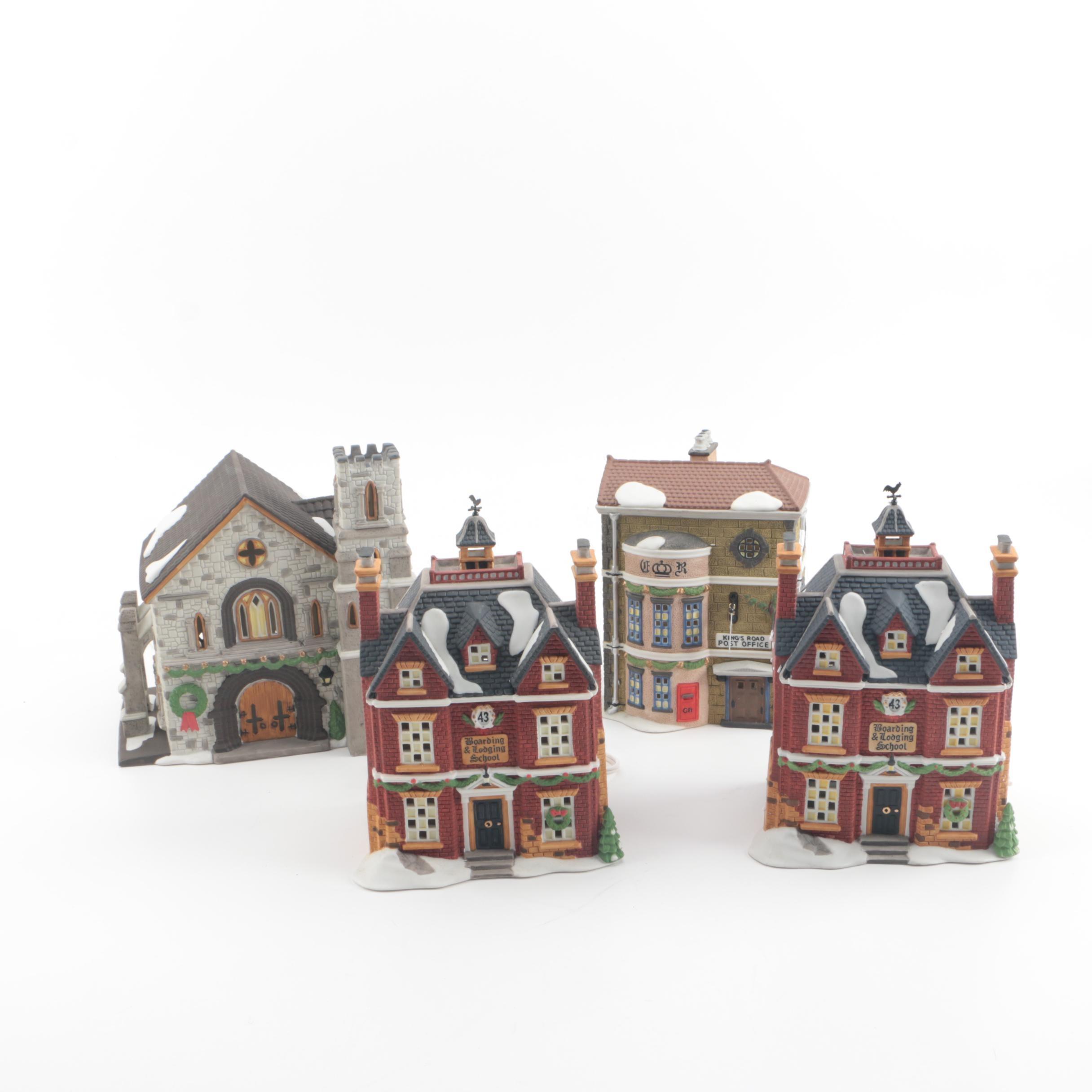 """1992-1994 Department 56 """"Dickens' Village"""" Ceramic Buildings"""