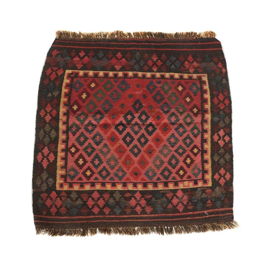 Handwoven Afghan Maimana Accent Kilim
