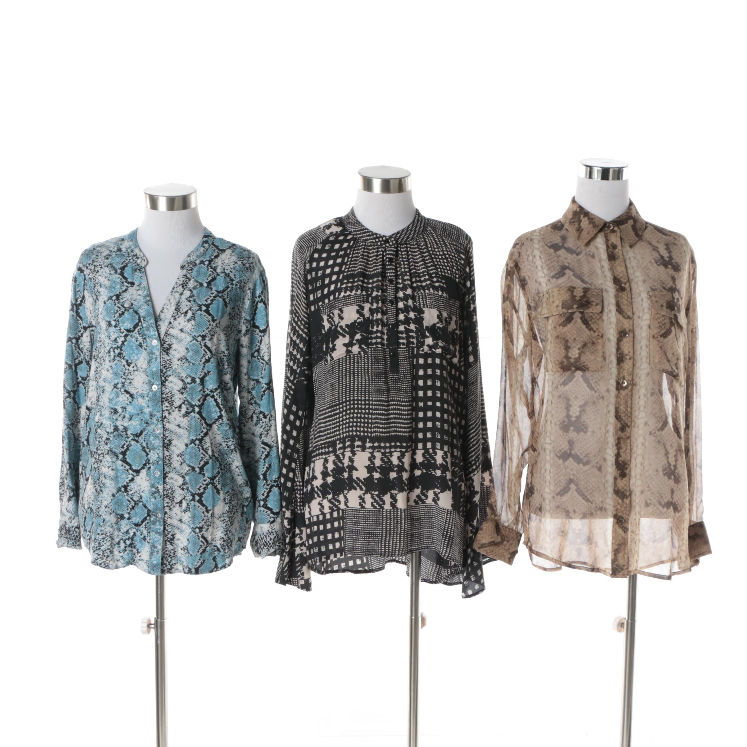 Women's Printed Blouses Including Winter Kate and Soft Joie