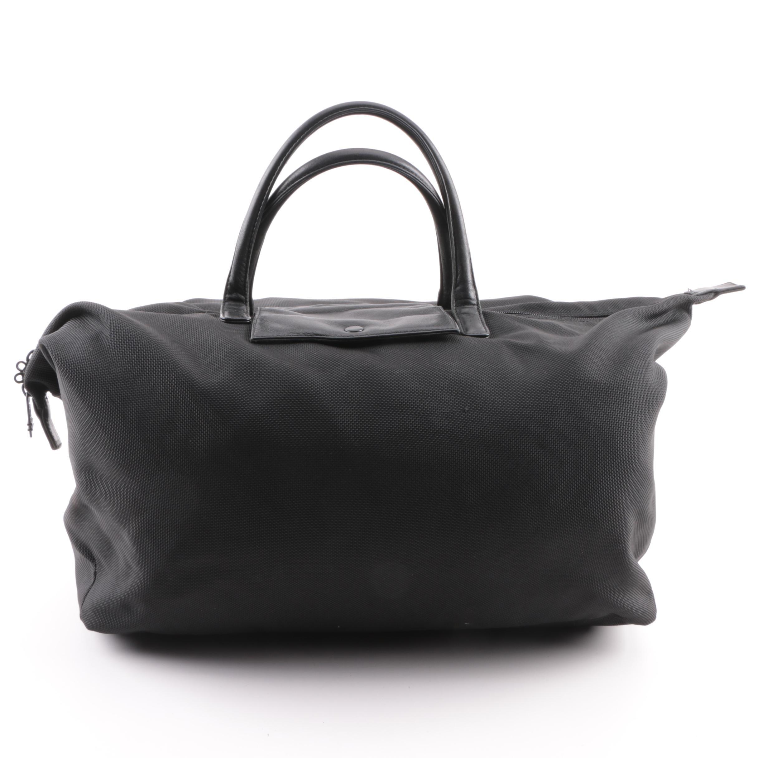 Tumi Black Nylon and Leather Tote