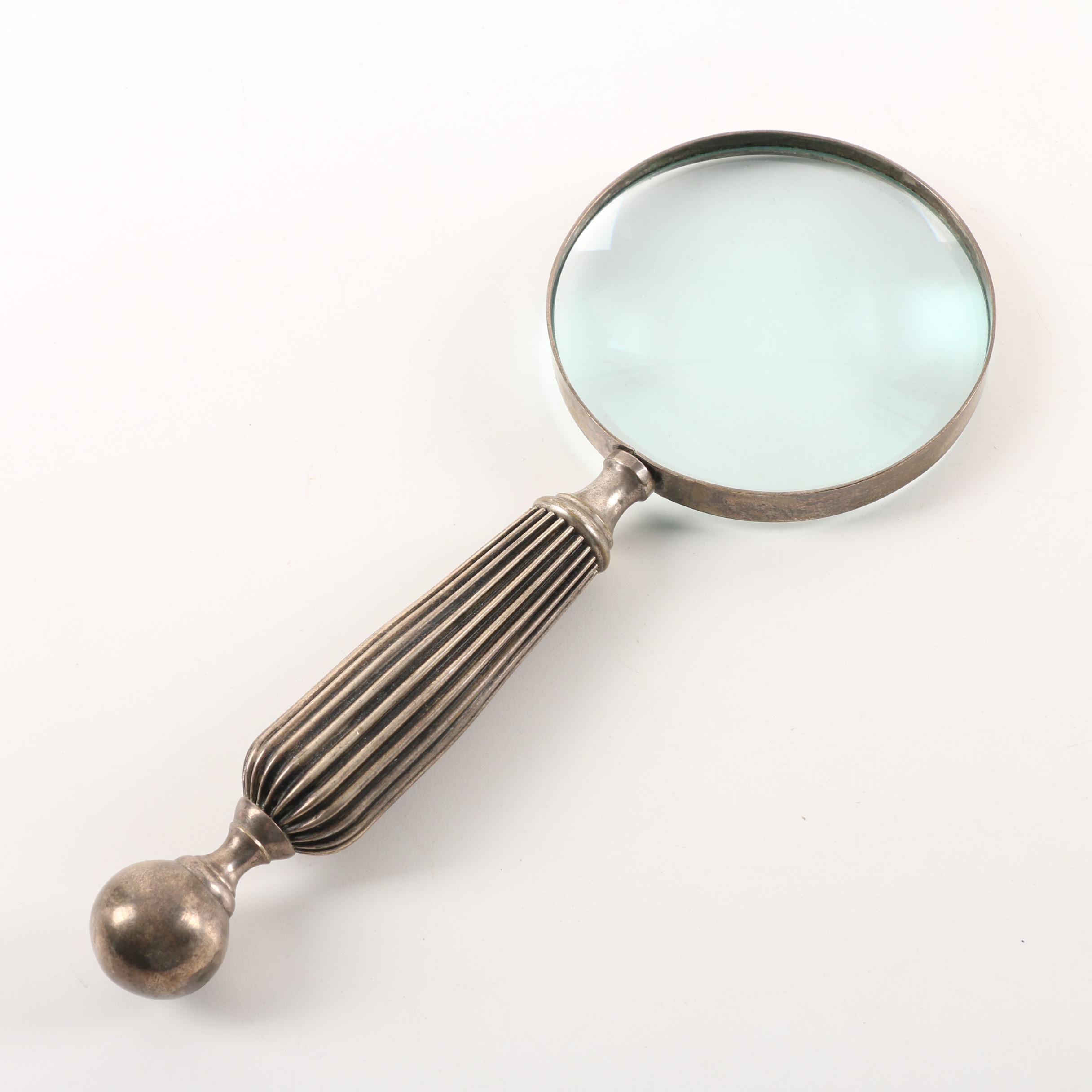 Vintage Silver Plated Magnifying Glass