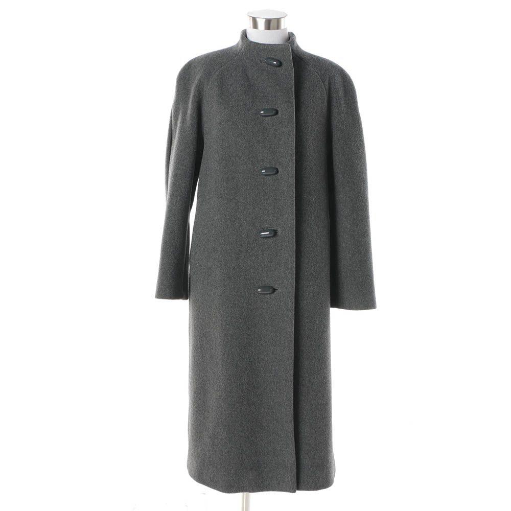 Women's Vintage Pauline Trigère Grey Wool Coat