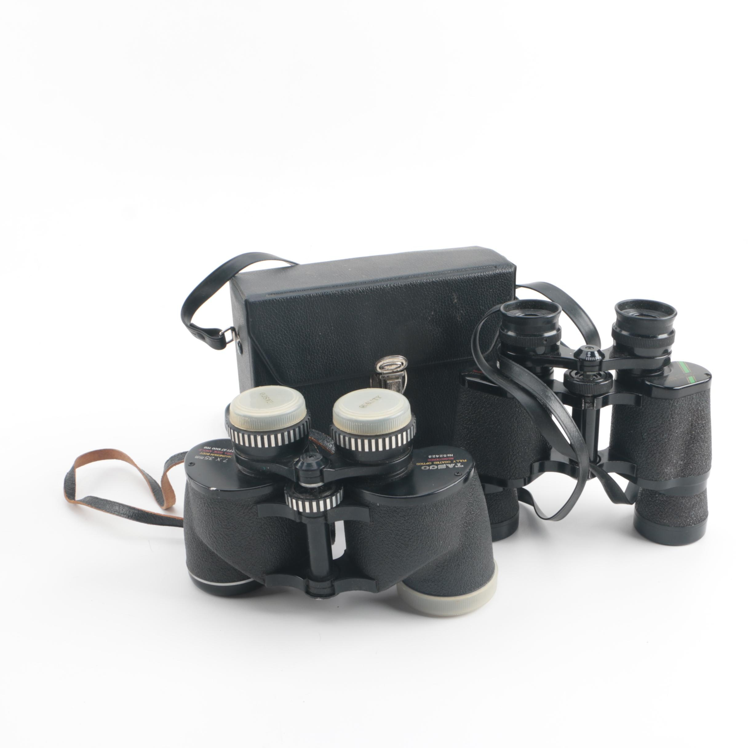 Selsi and Tasco Binoculars with a Case