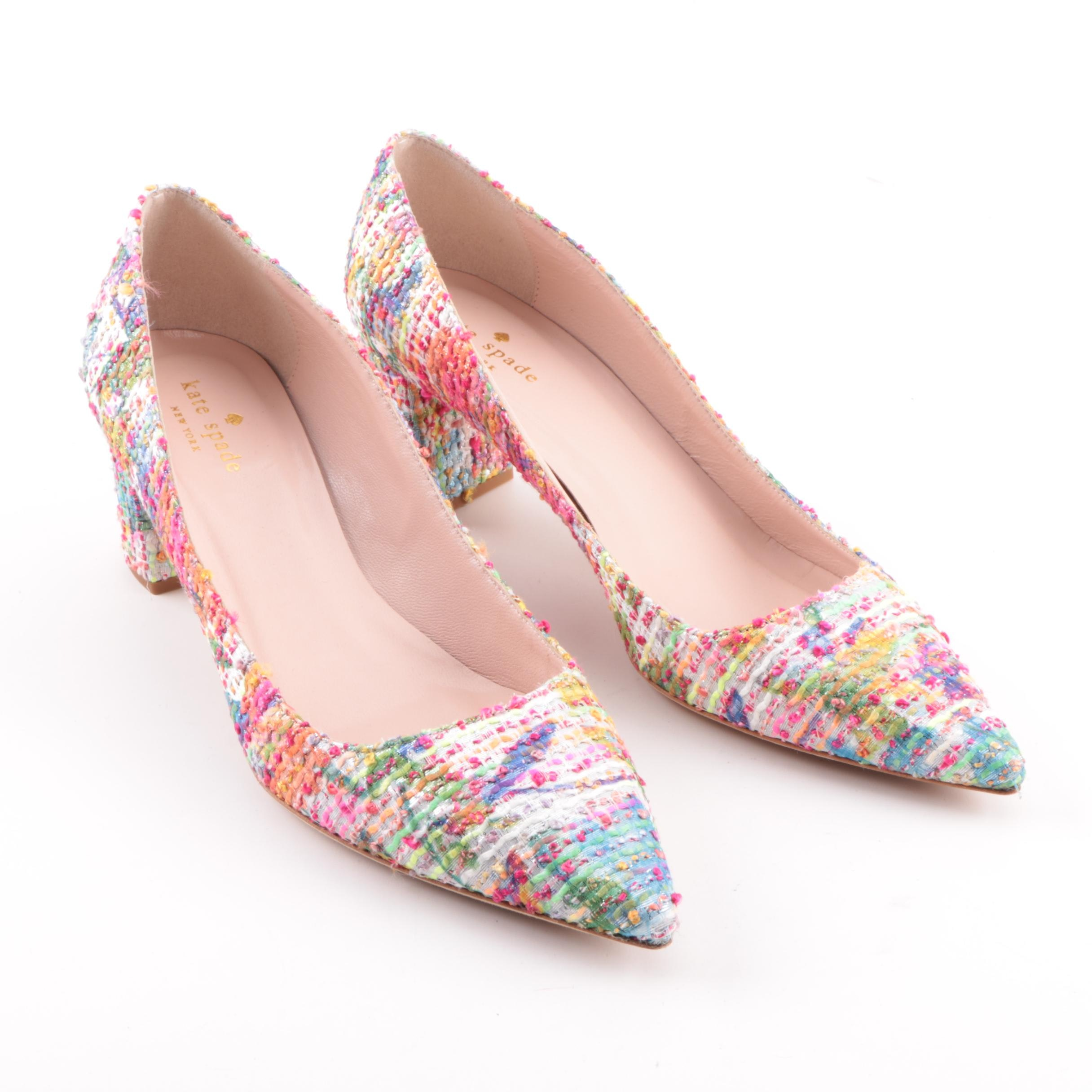 Kate Spade New York Multicolored Tweed High-Heeled Shoes