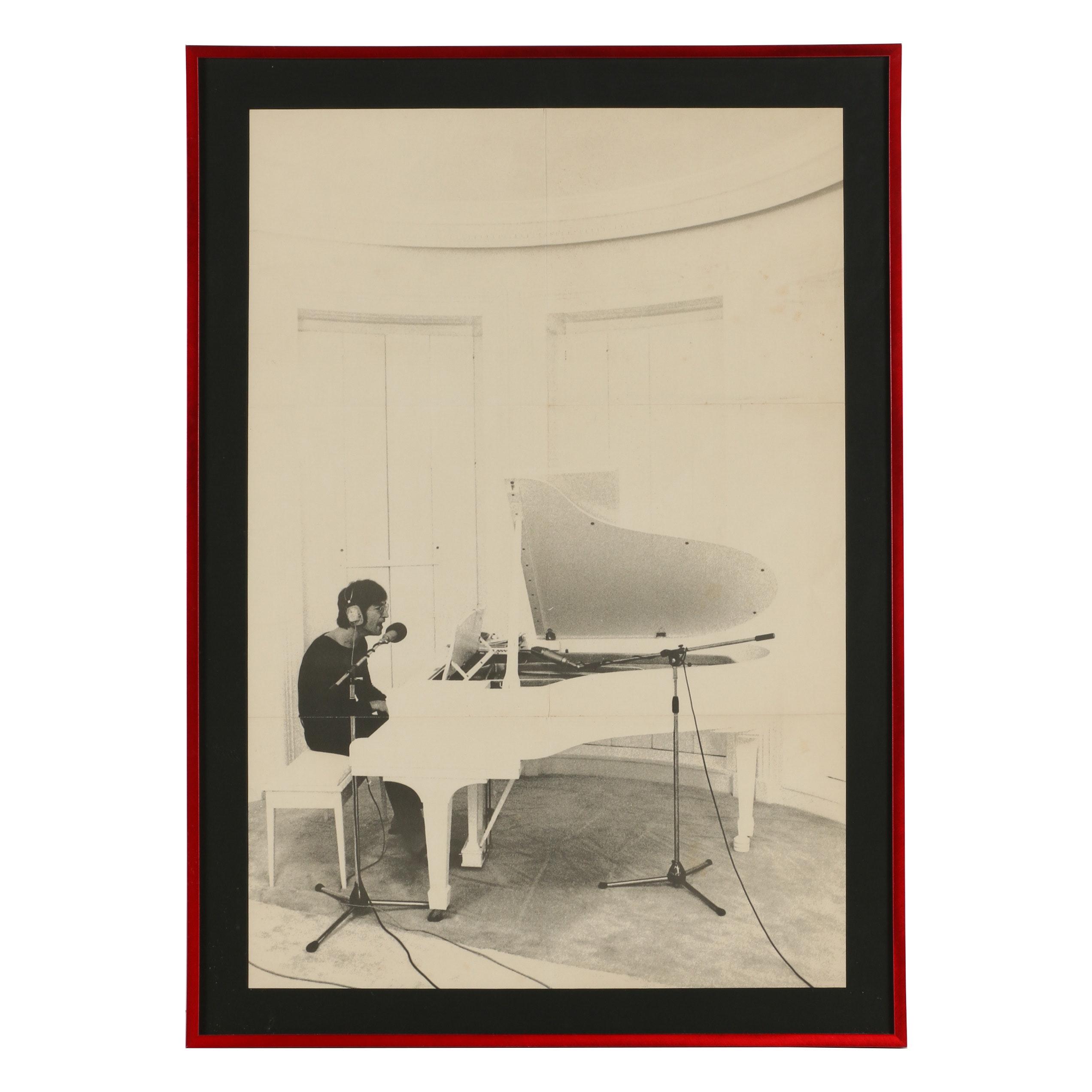 1971 Imagine Album Poster of John Lennon