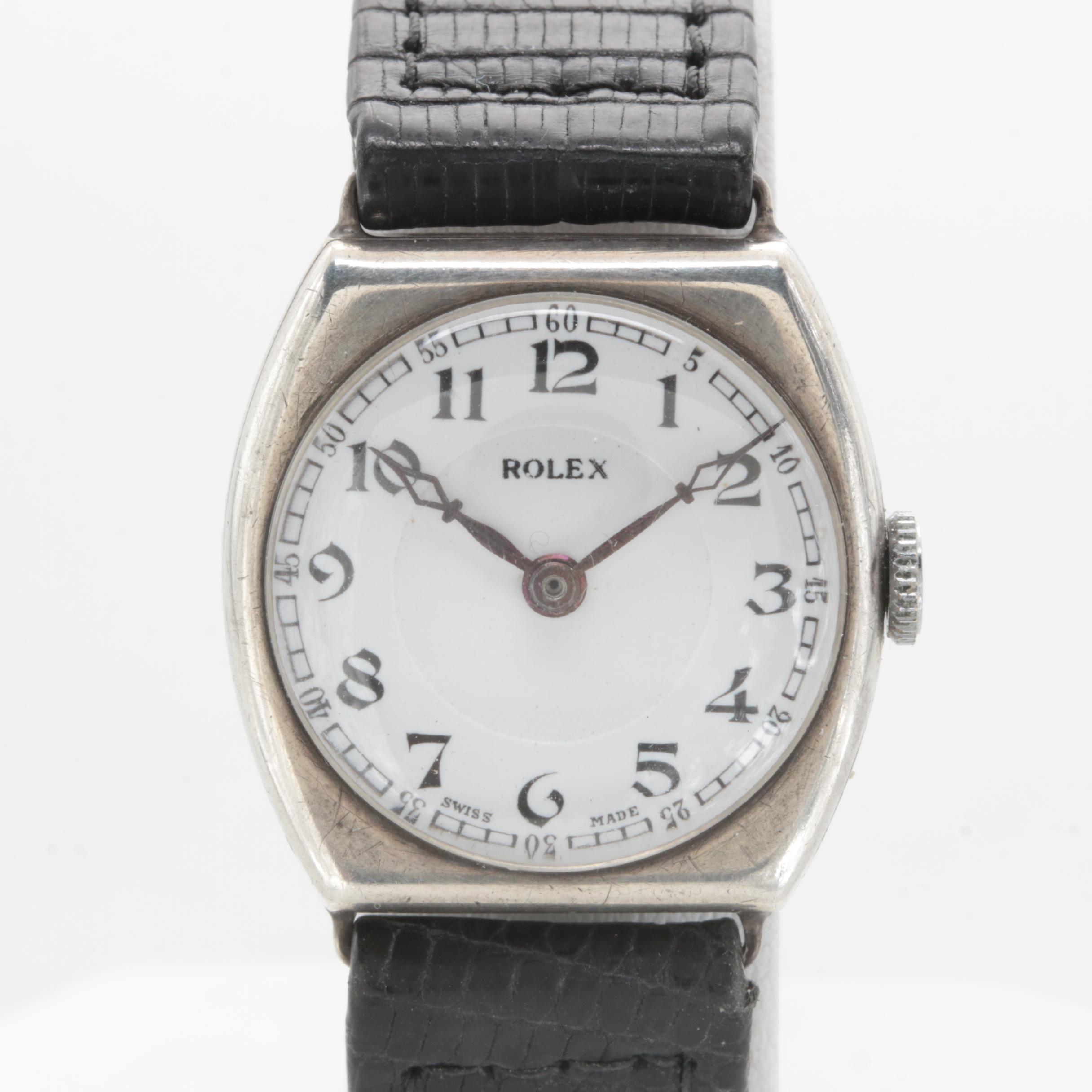 Rolex Ultra Prima Movement in Sterling Silver Case
