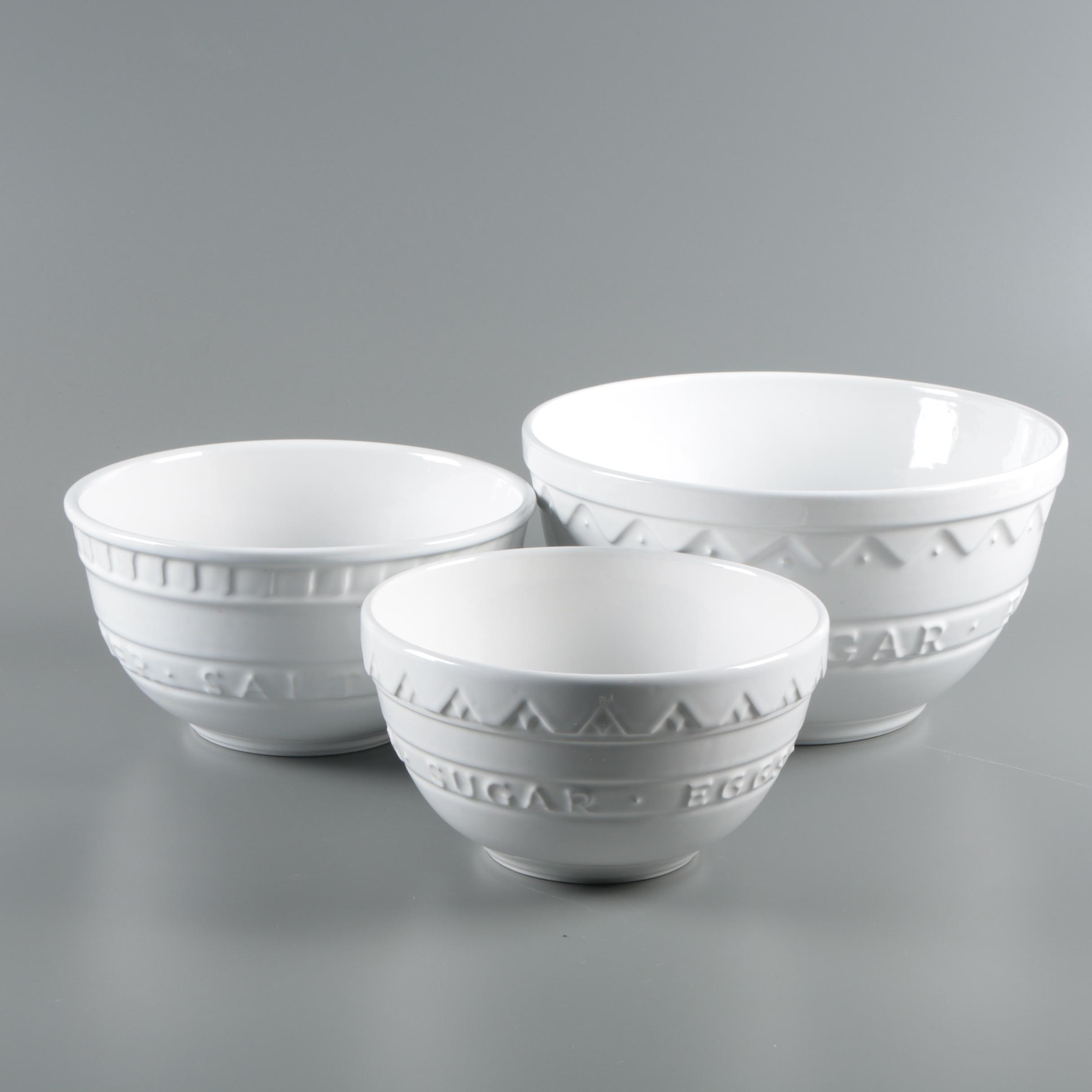 Boston Warehouse Trading Corp. Ceramic Mixing Bowls