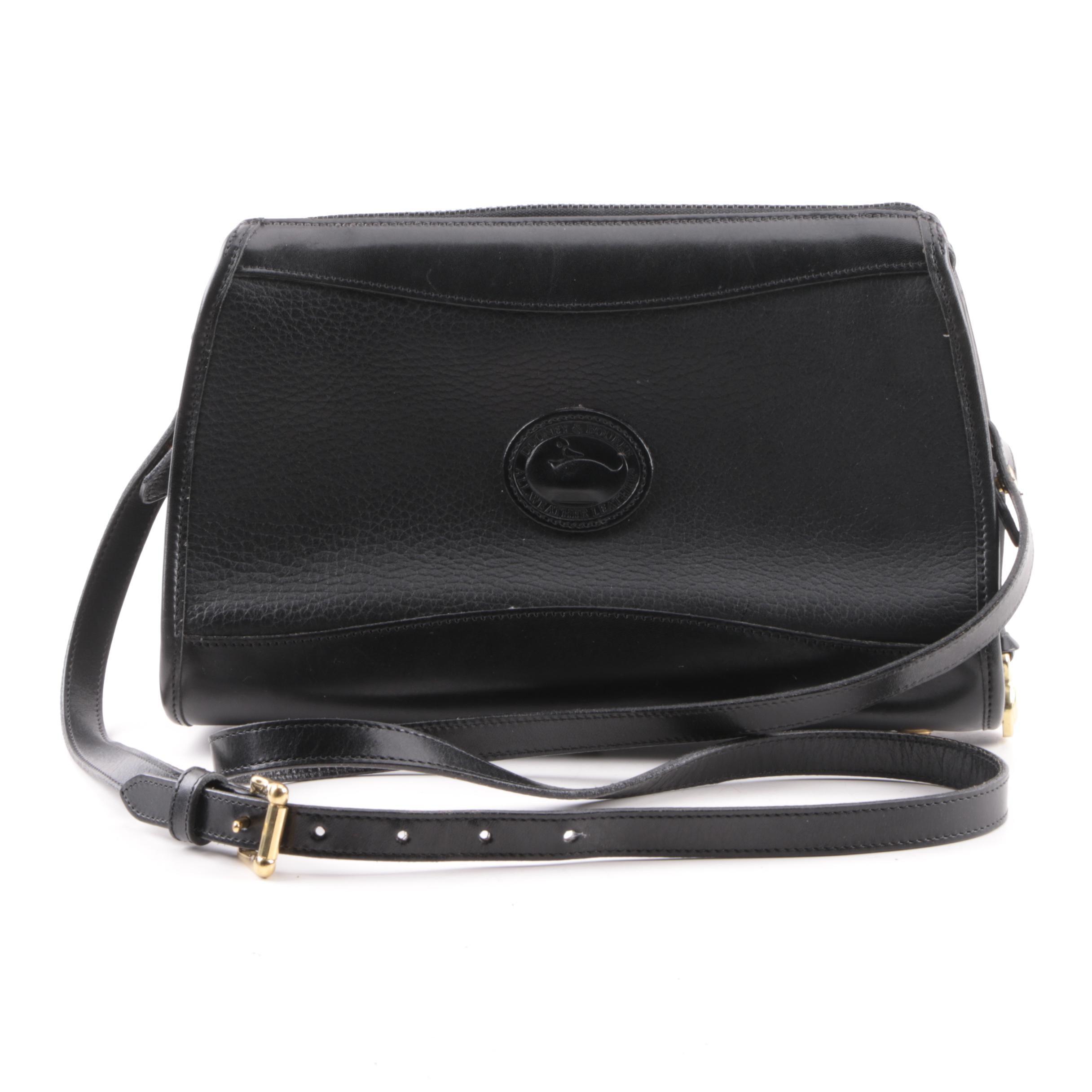 Dooney & Bourke Black All-Weather Leather Shoulder Bag